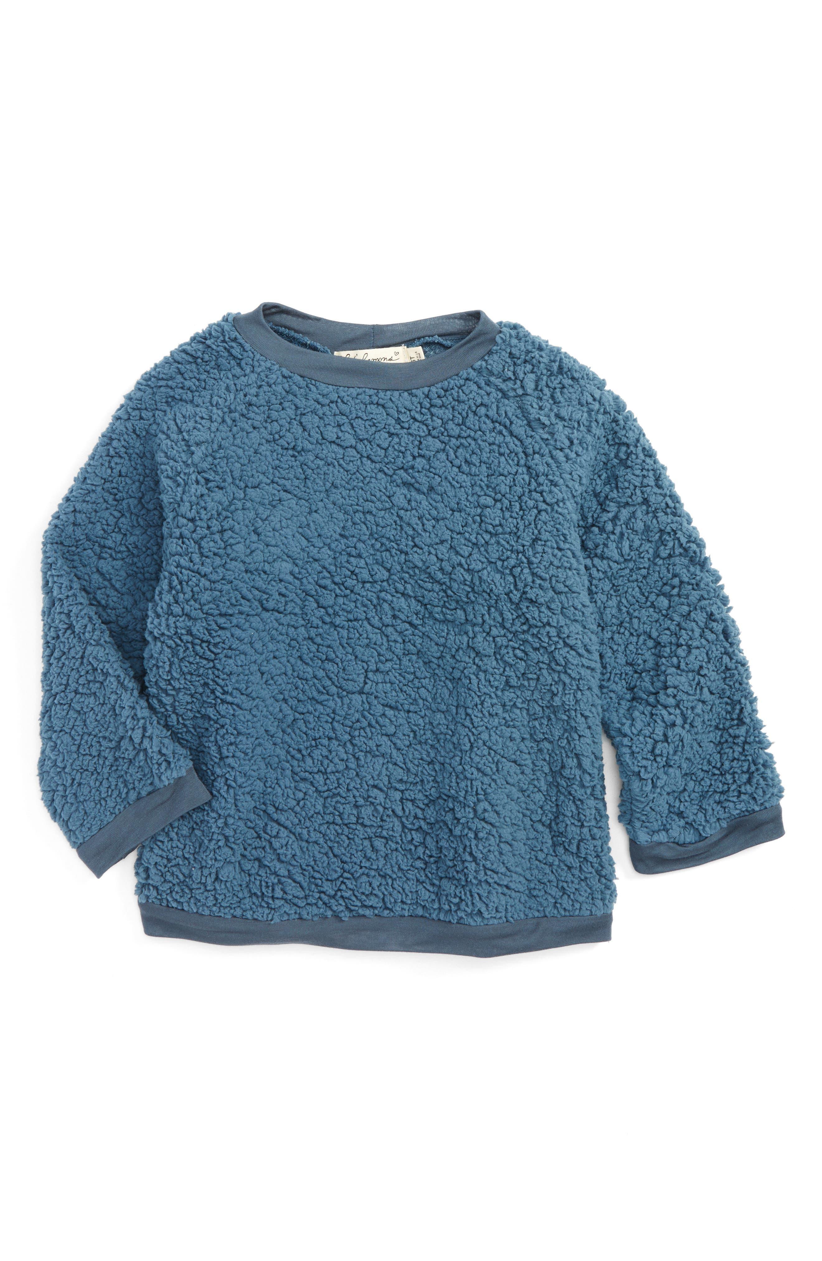 For Love & Lemons Fuzzy Raglan Sweatshirt (Toddler Girls & Little Girls)
