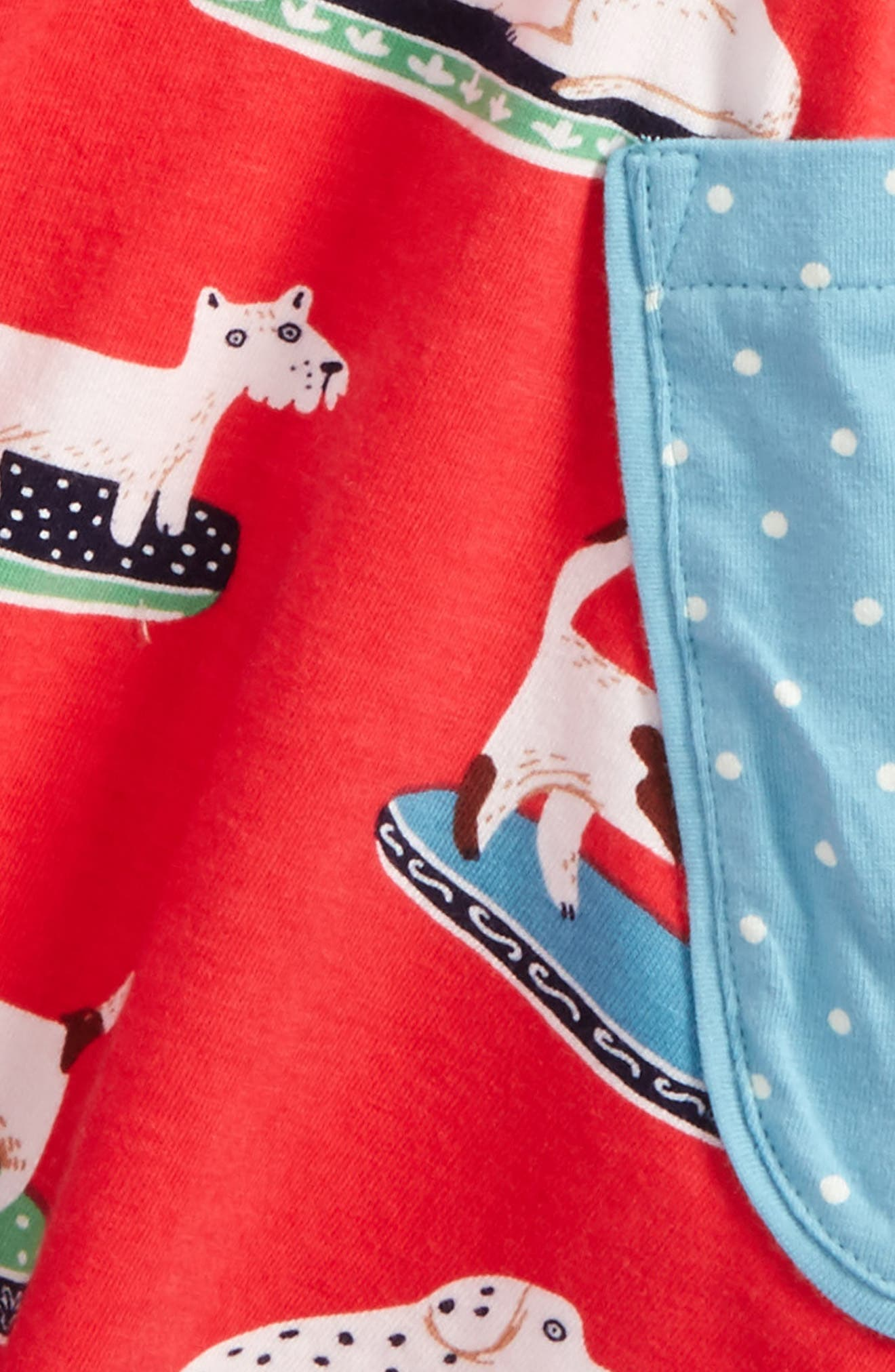 Print Tunic,                             Alternate thumbnail 2, color,                             Pink Berry China Dogs