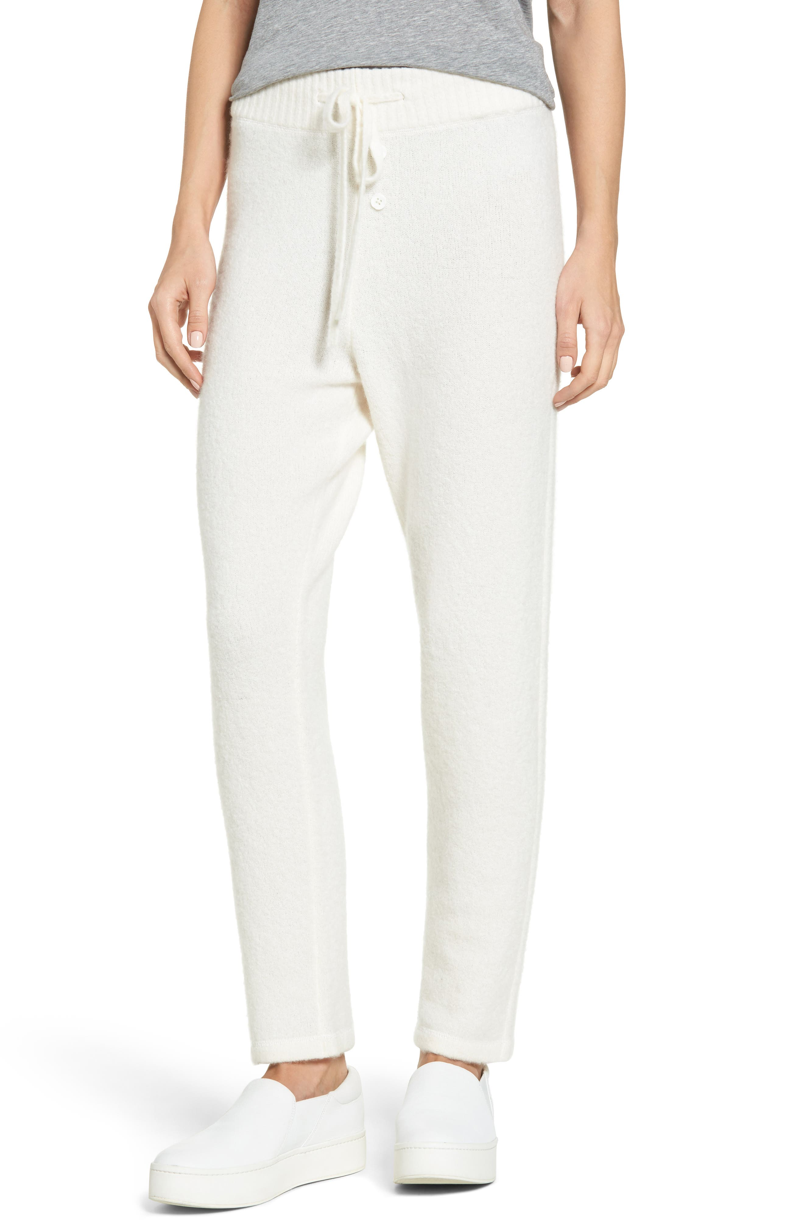 Alternate Image 1 Selected - James Perse Brushed Cashmere Sweatpants
