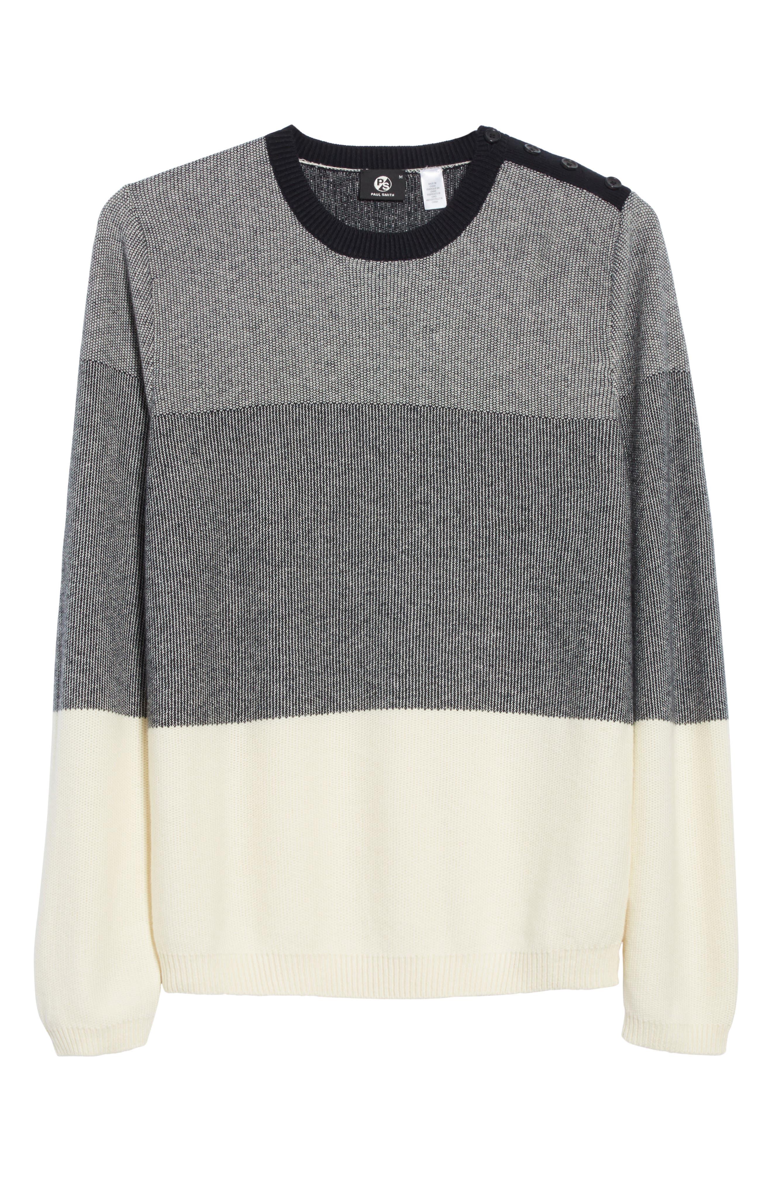 Alternate Image 6  - PS Paul Smith Colorblock Crewneck Sweater