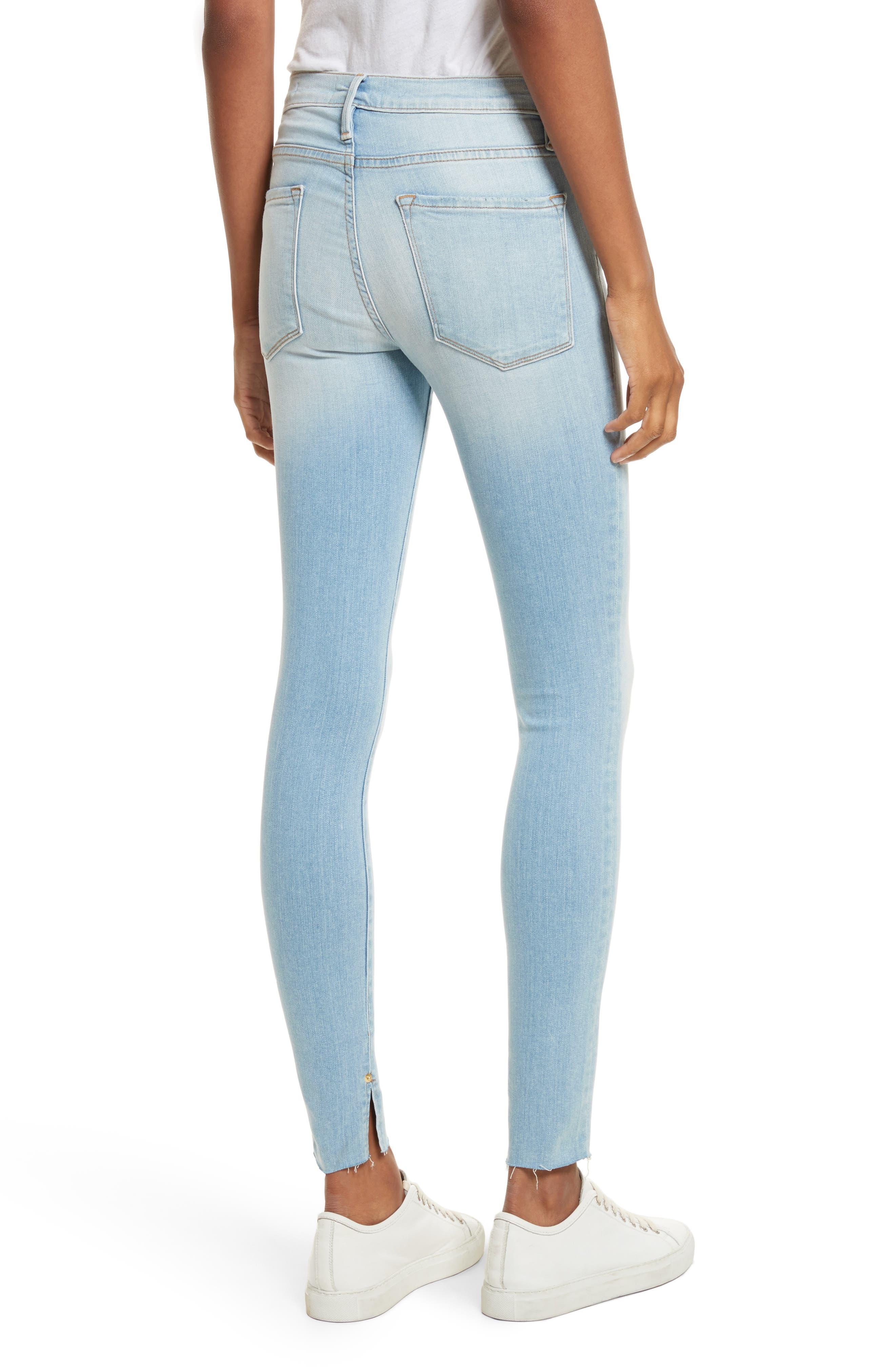 Alternate Image 2  - FRAME Le Skinny de Jeanne Raw Edge Skinny Jeans