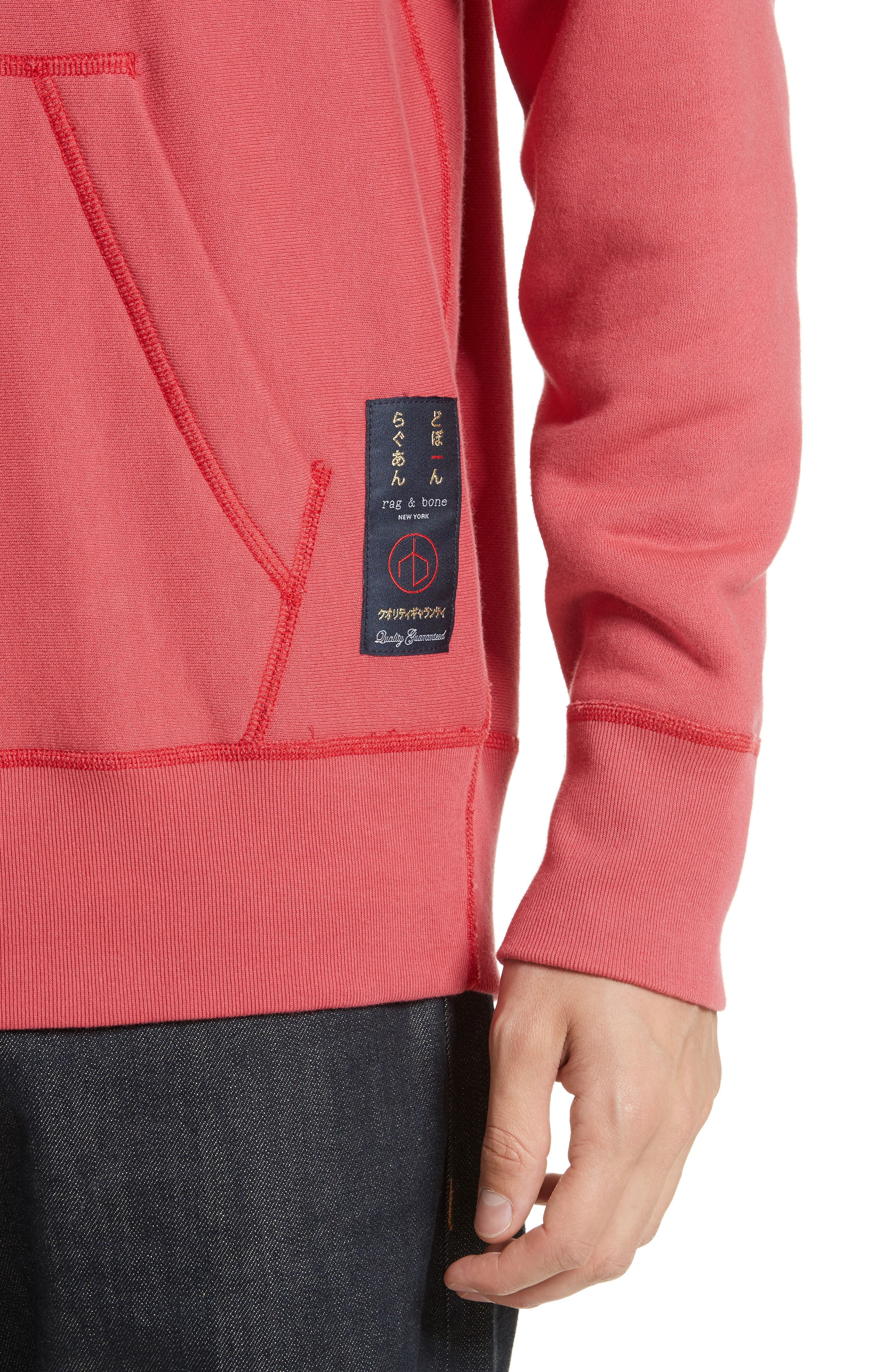 Racer Hoodie,                             Alternate thumbnail 4, color,                             Washed Red