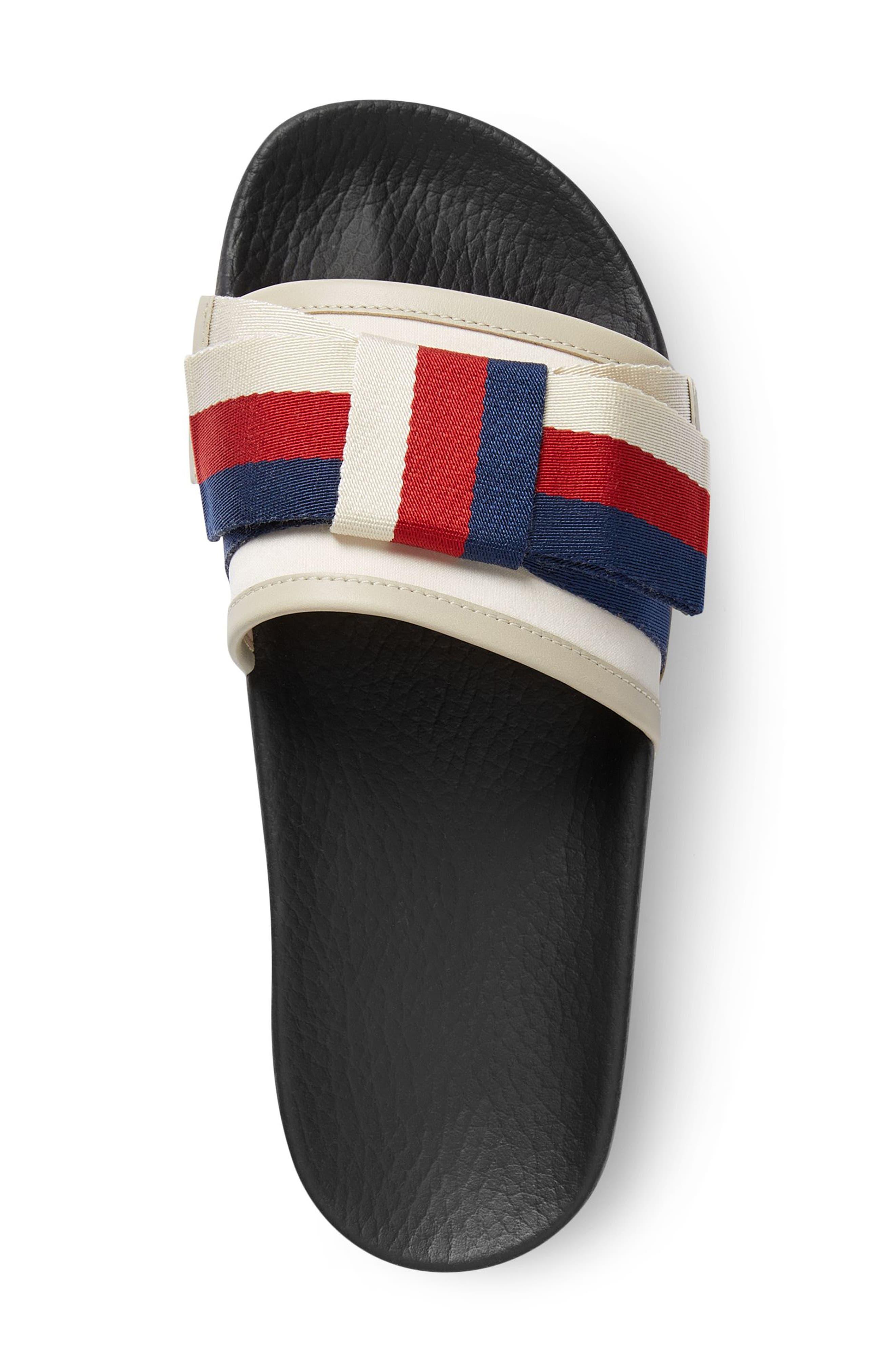 Pursuit Bow Slide Sandal,                             Alternate thumbnail 3, color,                             Ivory