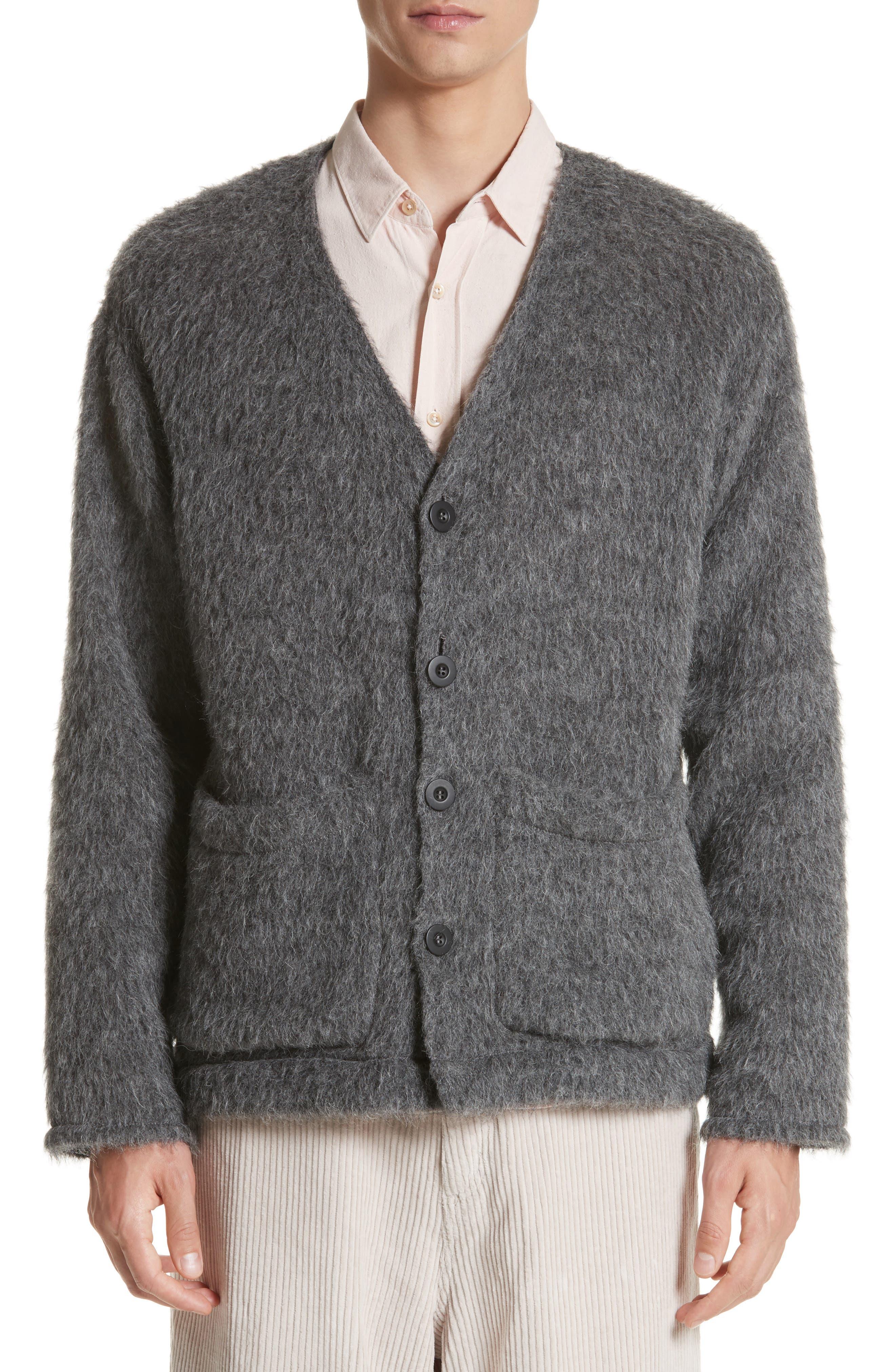 Fuzz Cardigan,                         Main,                         color, Grey