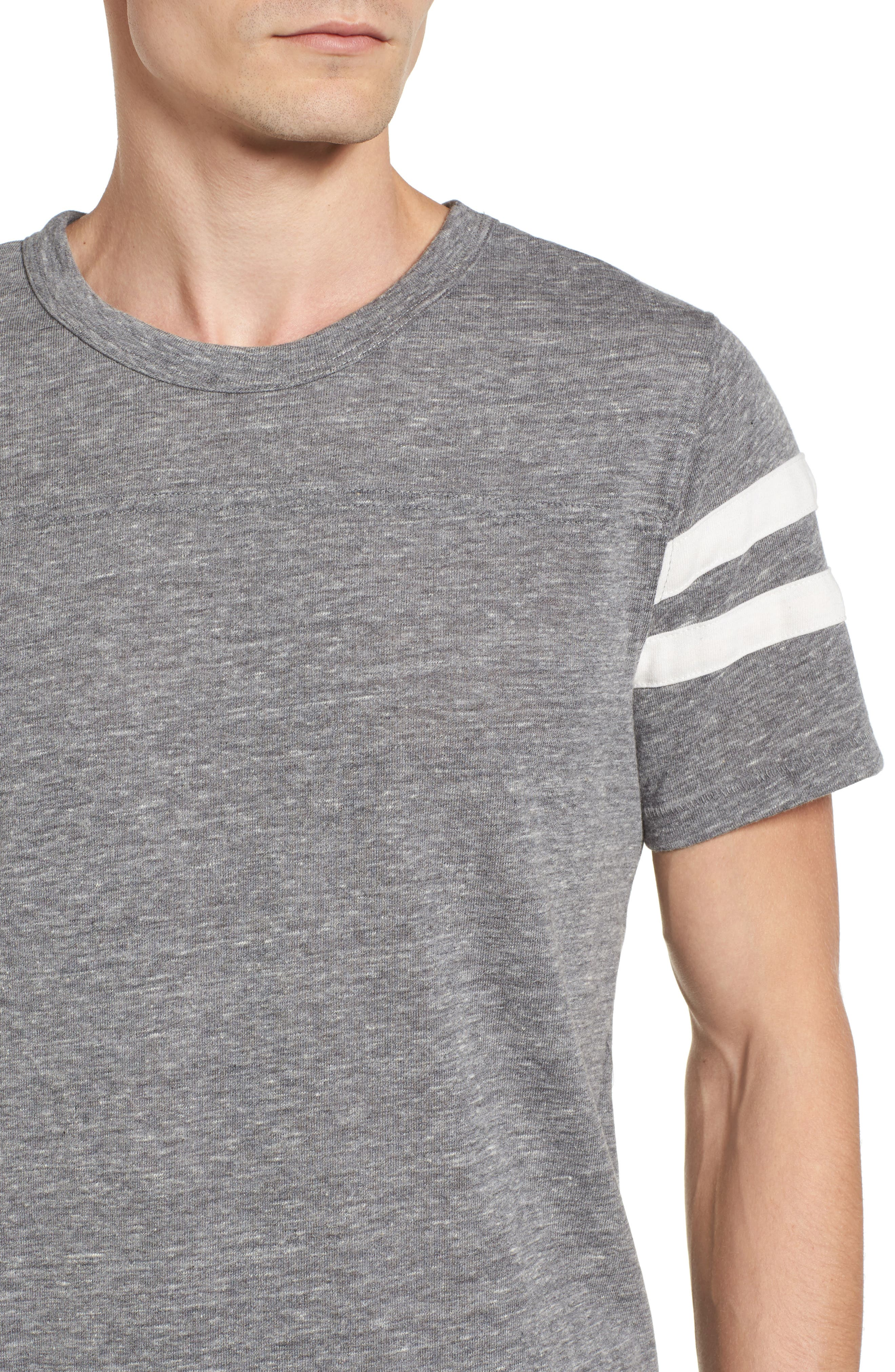Football T-Shirt,                             Alternate thumbnail 4, color,                             Eco Grey/ Eco Ivory