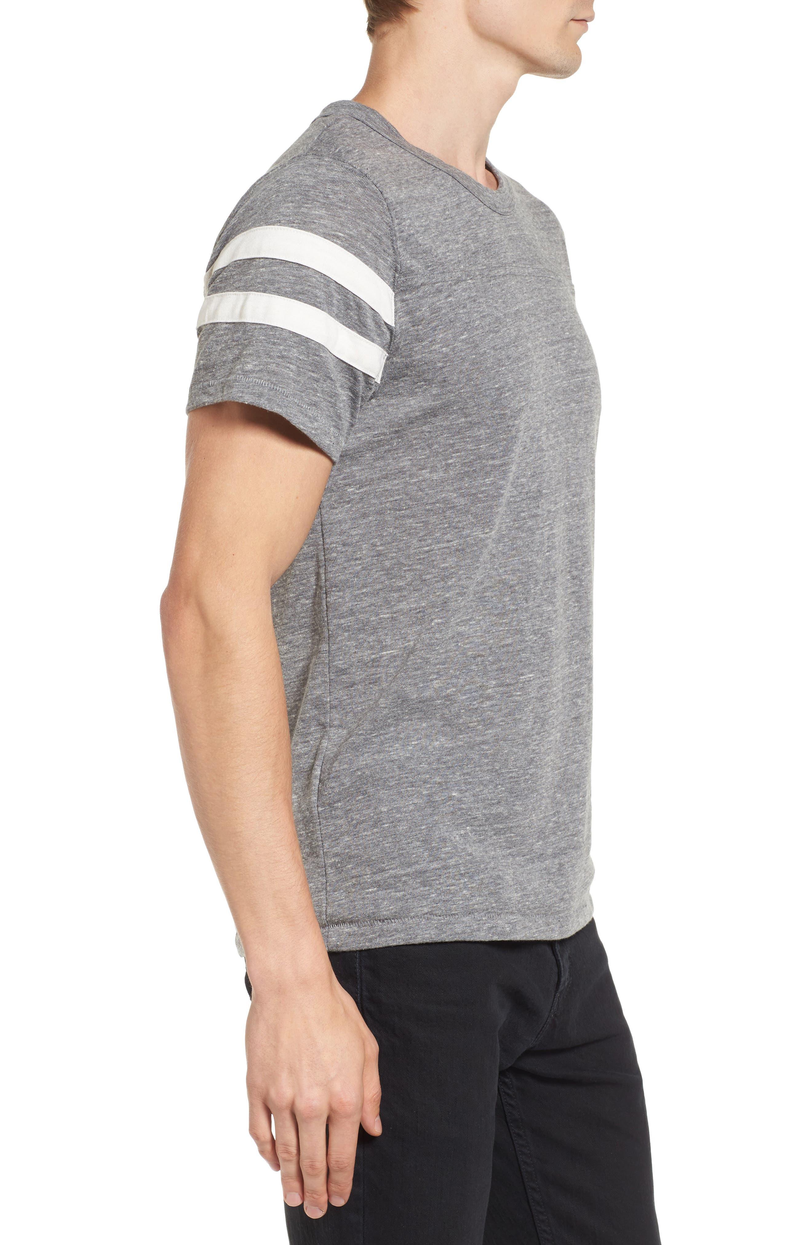 Football T-Shirt,                             Alternate thumbnail 3, color,                             Eco Grey/ Eco Ivory