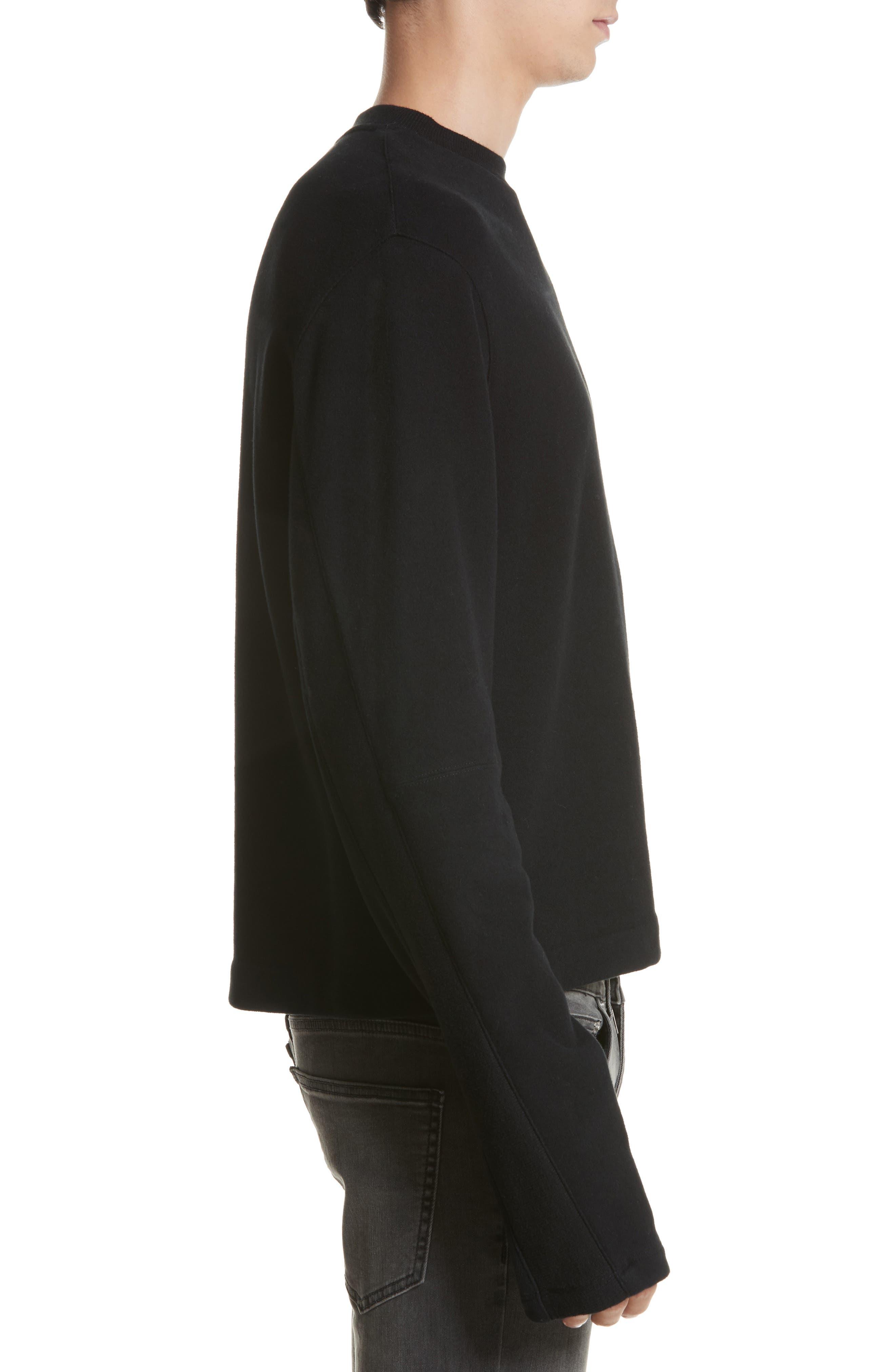 Alternate Image 3  - Helmut Lang Rib Detail Crewneck Sweater