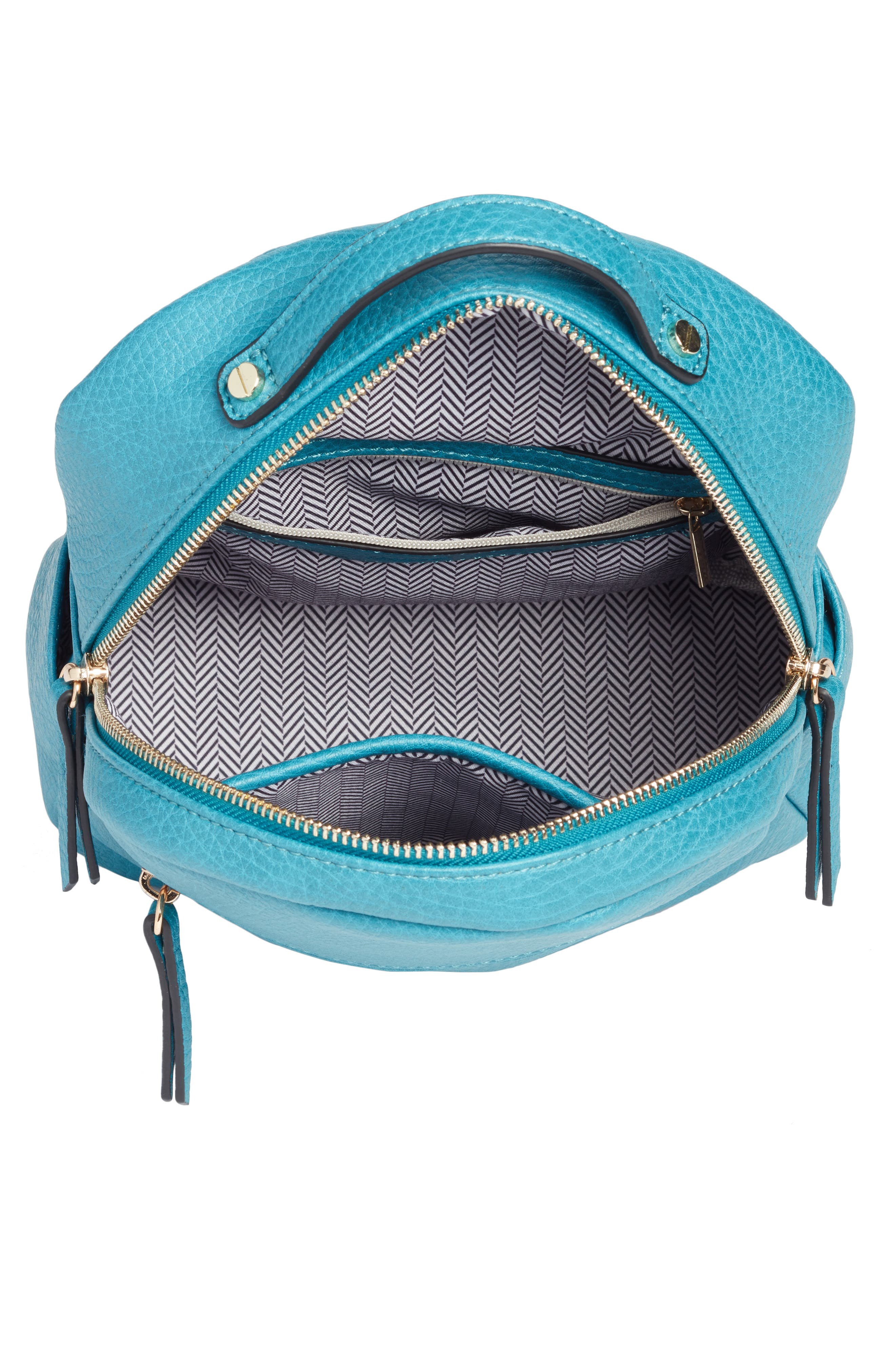 Mali + Lili Vegan Leather Backpack,                             Alternate thumbnail 4, color,                             Blue