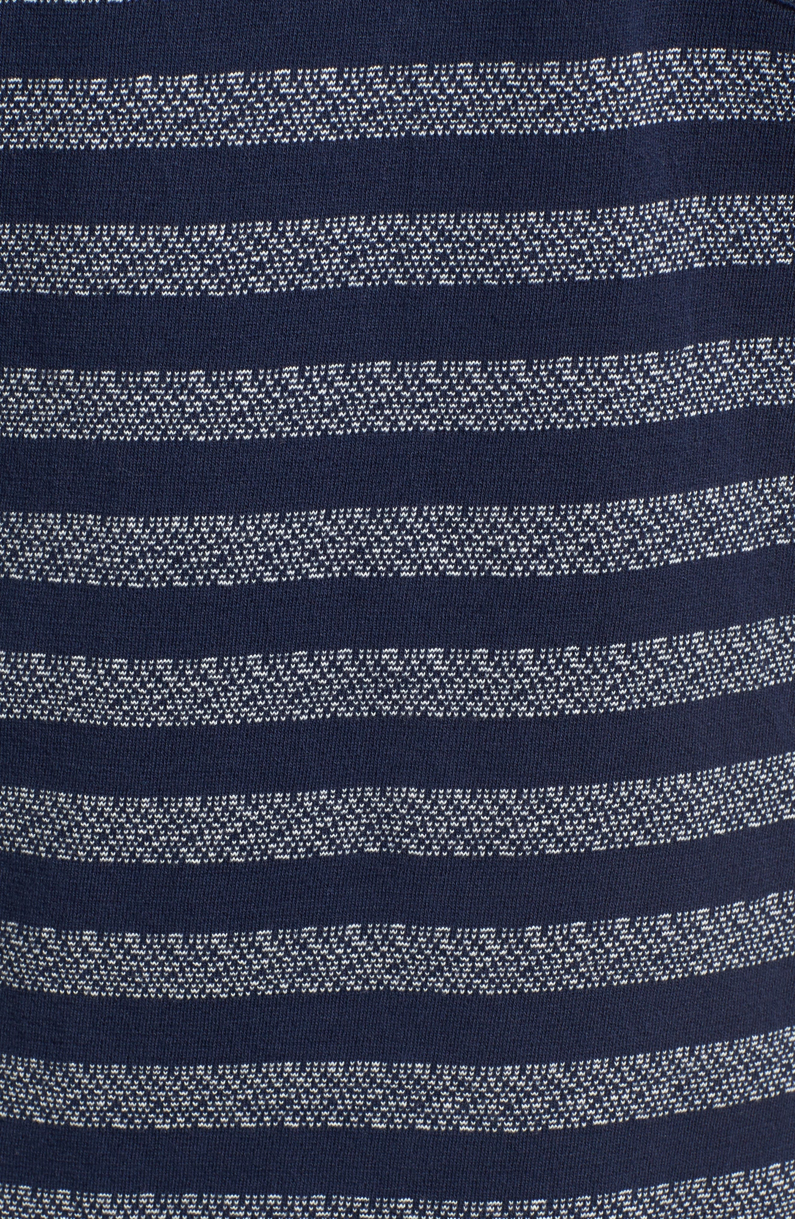 What's Shakin' Stripe T-Shirt,                             Alternate thumbnail 5, color,                             Federal Blue