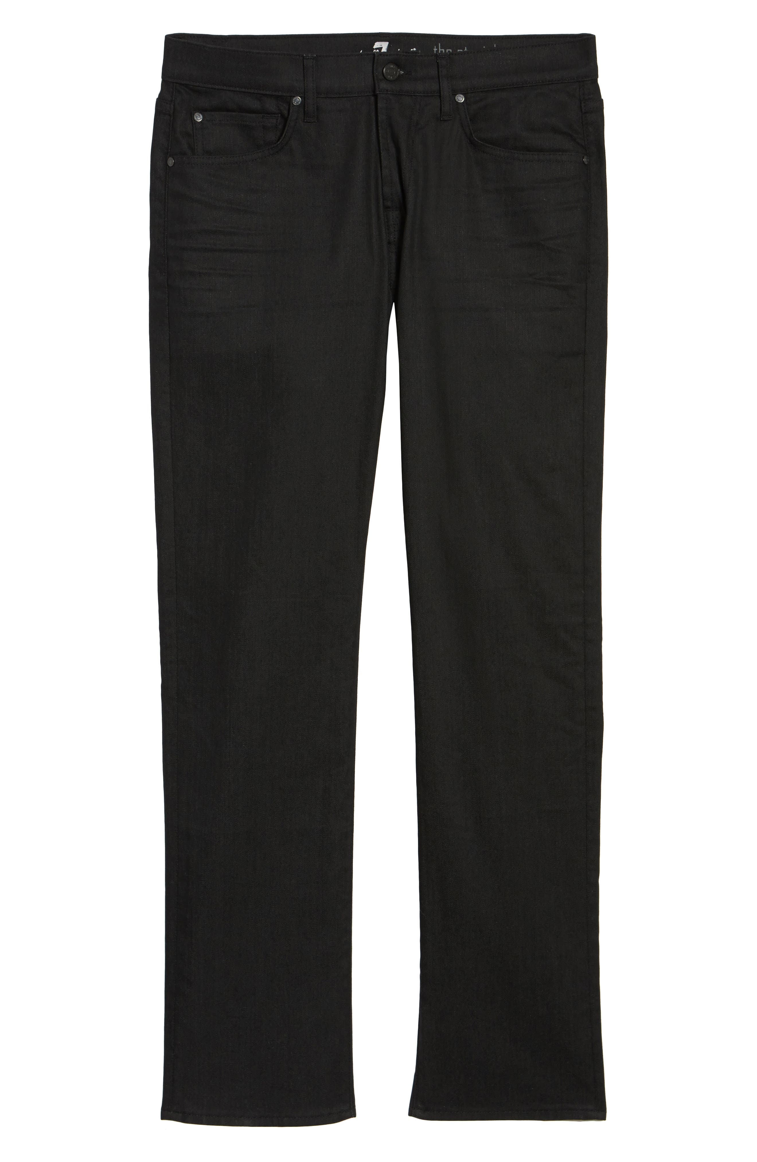 Alternate Image 6  - 7 For All Mankind® The Straight Slim Straight Fit Jeans (Soirée Black)