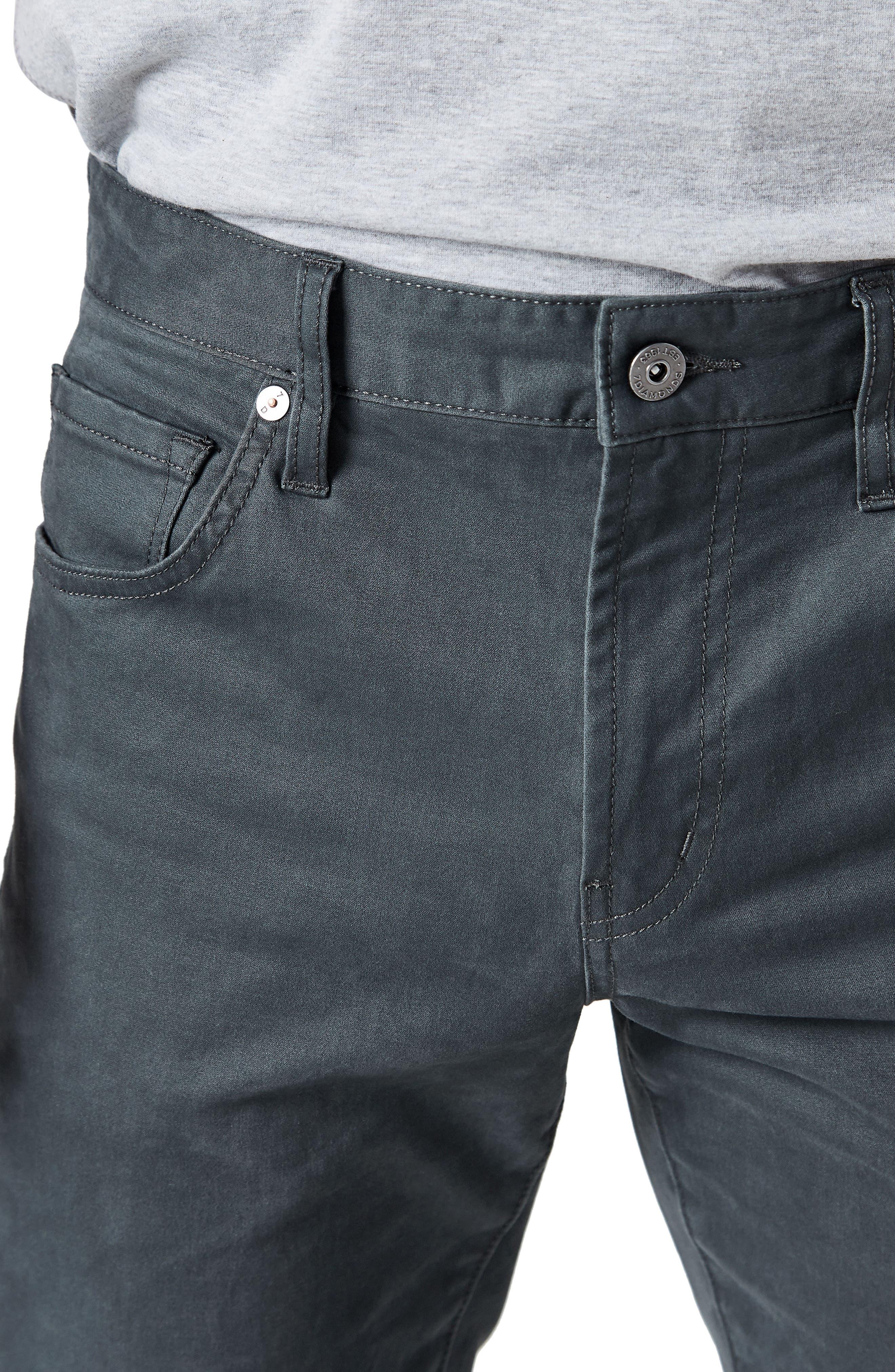 Alternate Image 4  - 7 Diamonds Brushed Twill Five-Pocket Pants