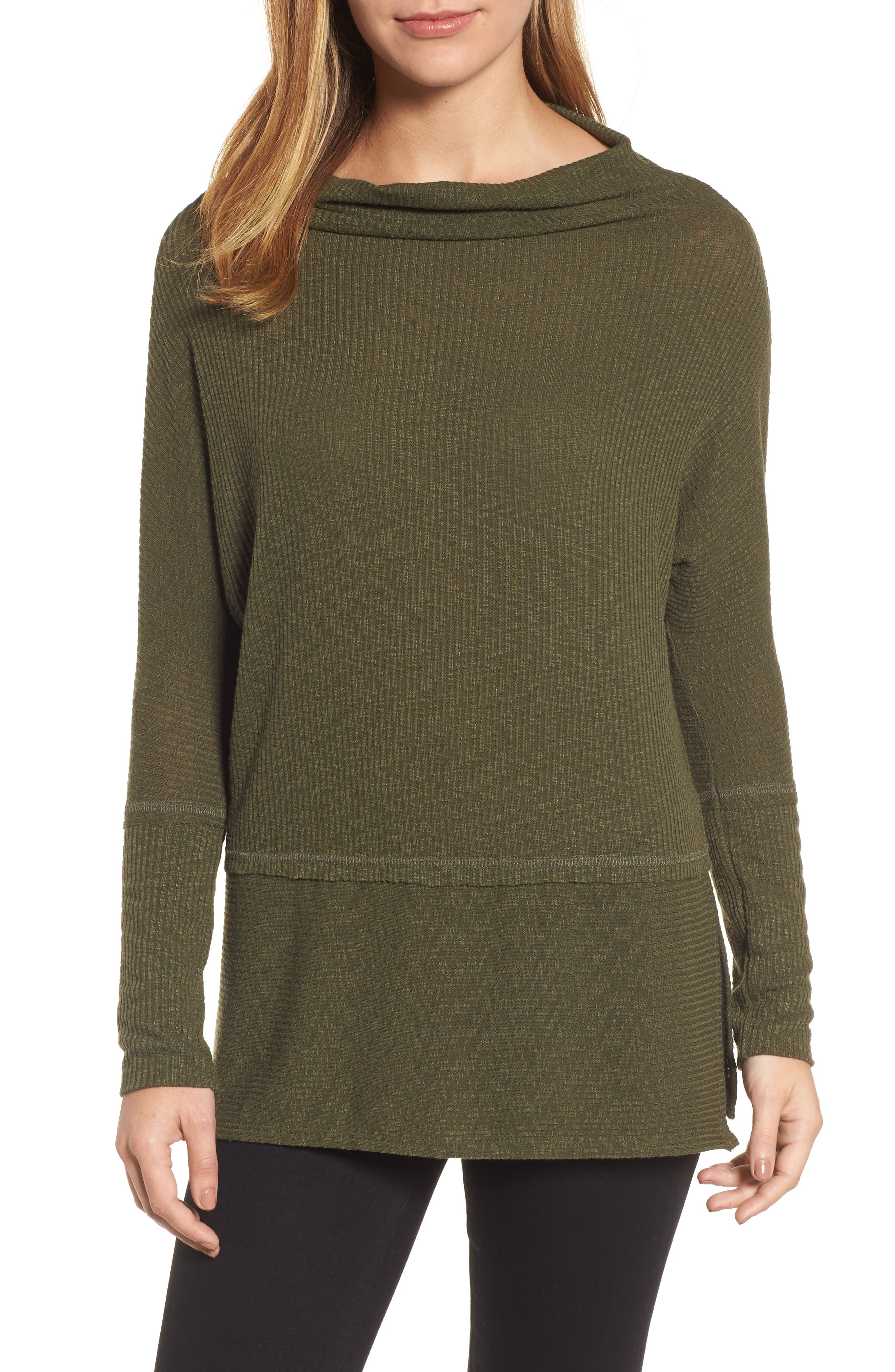 Convertible Wide Neck Top,                         Main,                         color, Olive