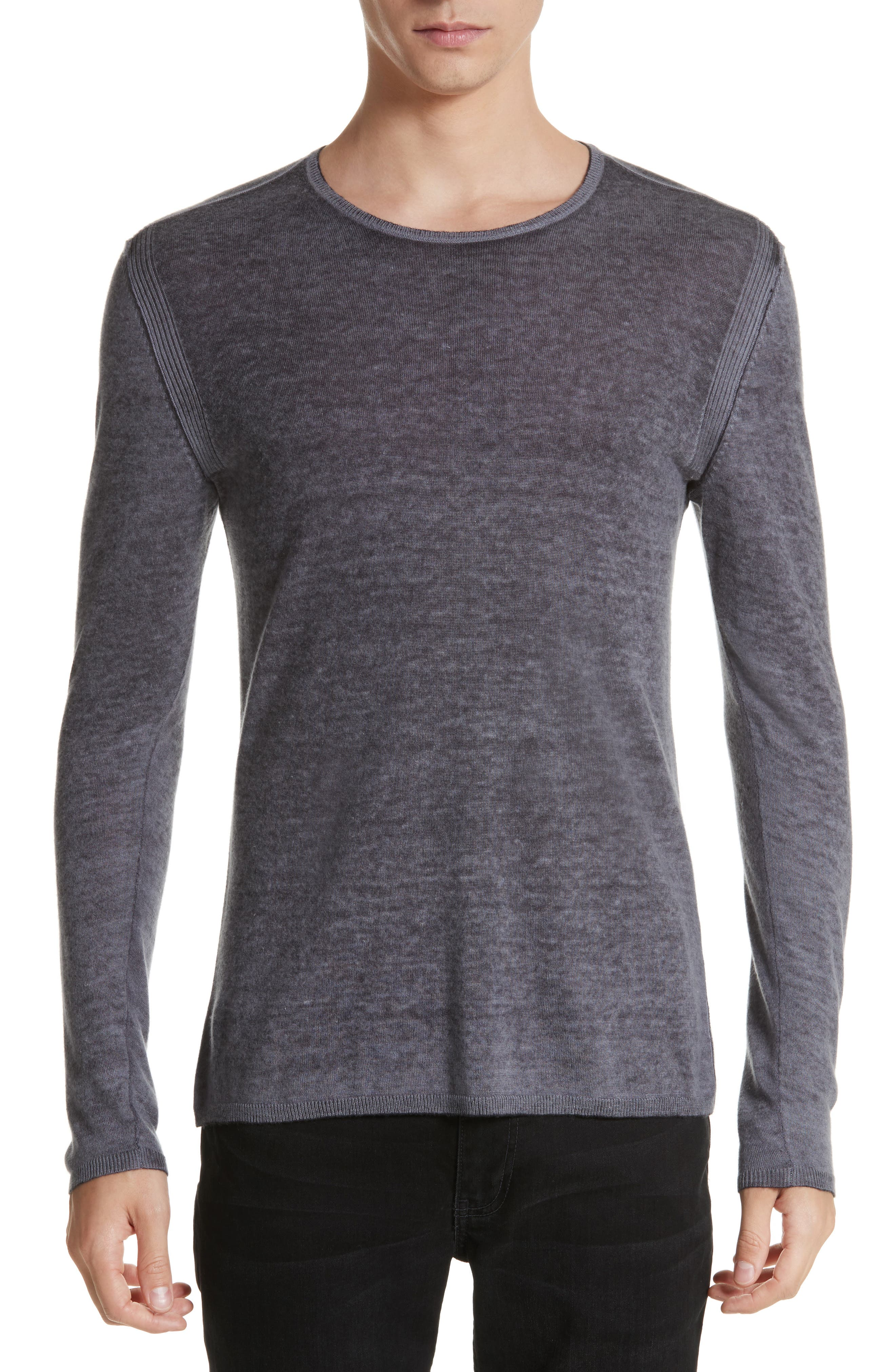 Silk & Cashmere Crewneck Sweater,                             Main thumbnail 1, color,                             Dry Lavender