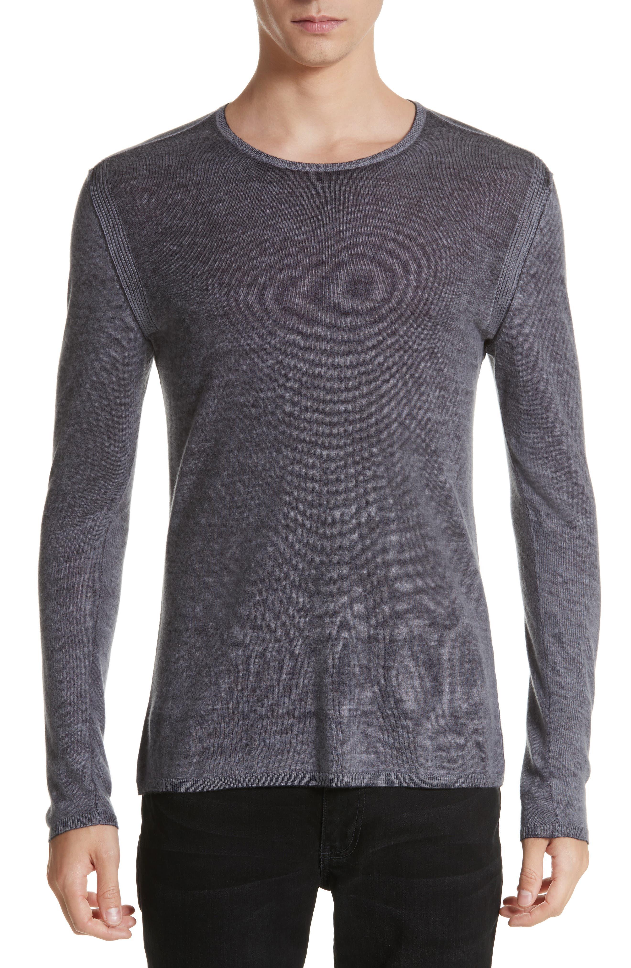 Main Image - John Varvatos Collection Silk & Cashmere Crewneck Sweater