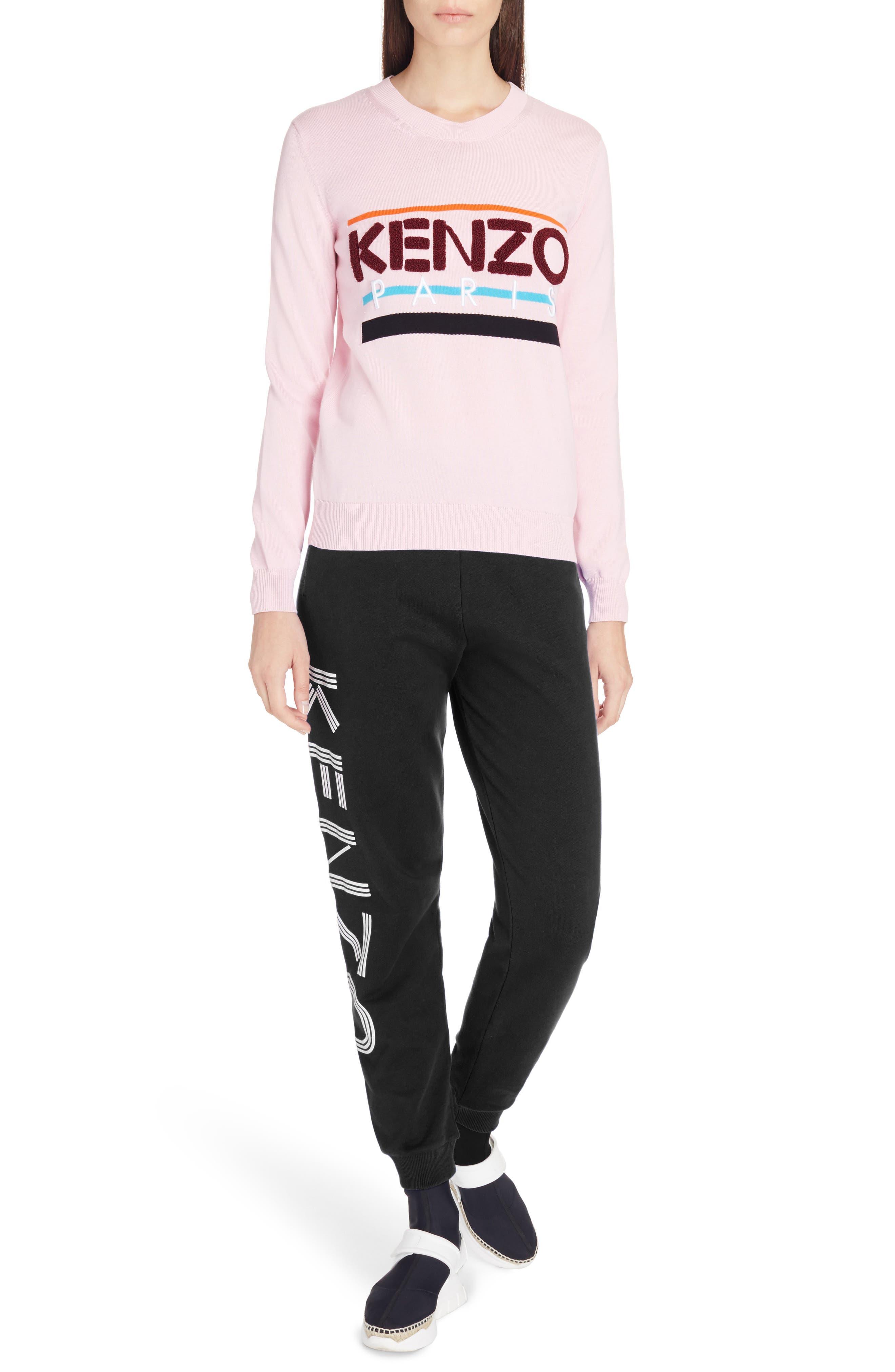 Paris Logo Sweatshirt,                             Alternate thumbnail 3, color,                             Flamingo Pink
