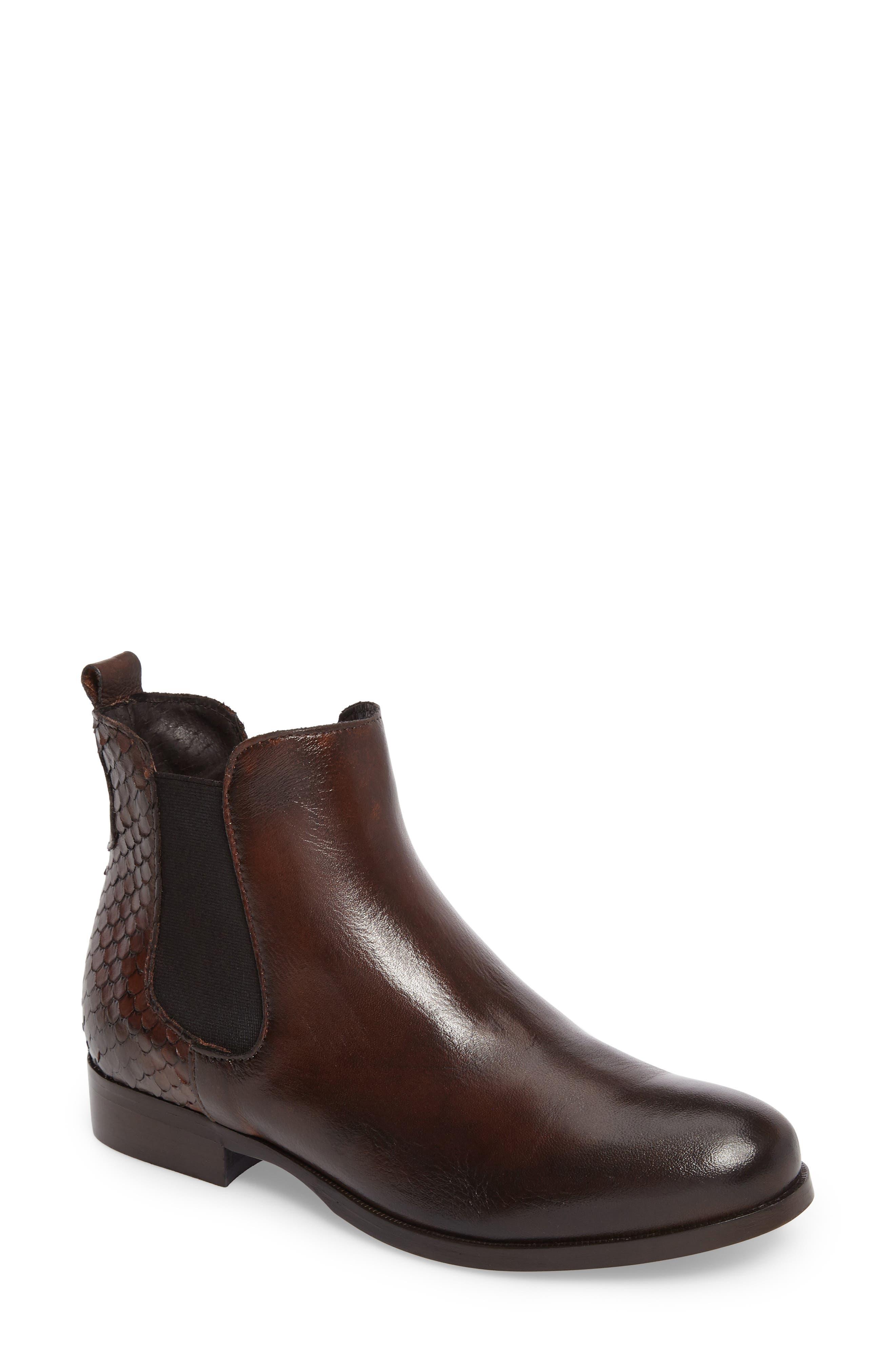 Padamae Water Resistant Chelsea Boot,                         Main,                         color, Onyx Suede