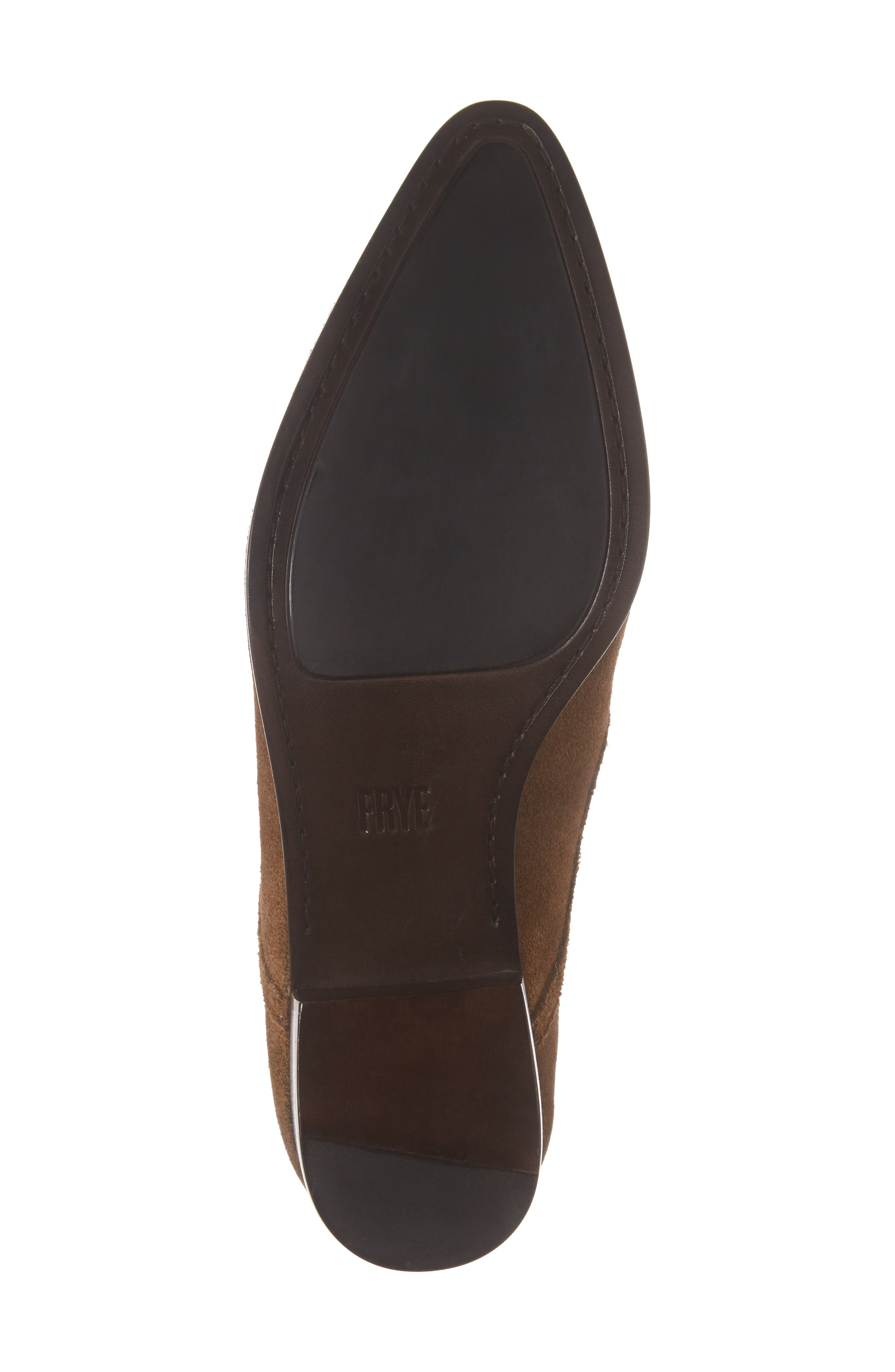 Eleanor Pointy Toe Bootie,                             Alternate thumbnail 6, color,                             Chestnut