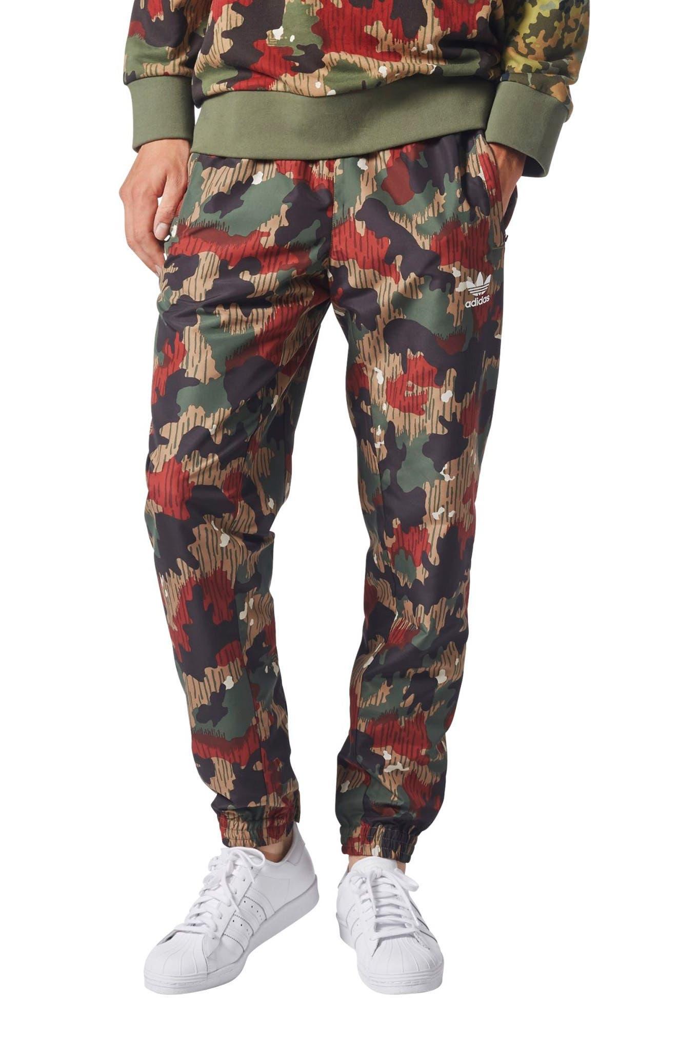 Originals Pharrell Williams Hu Hiking Wind Pants,                         Main,                         color, Camo