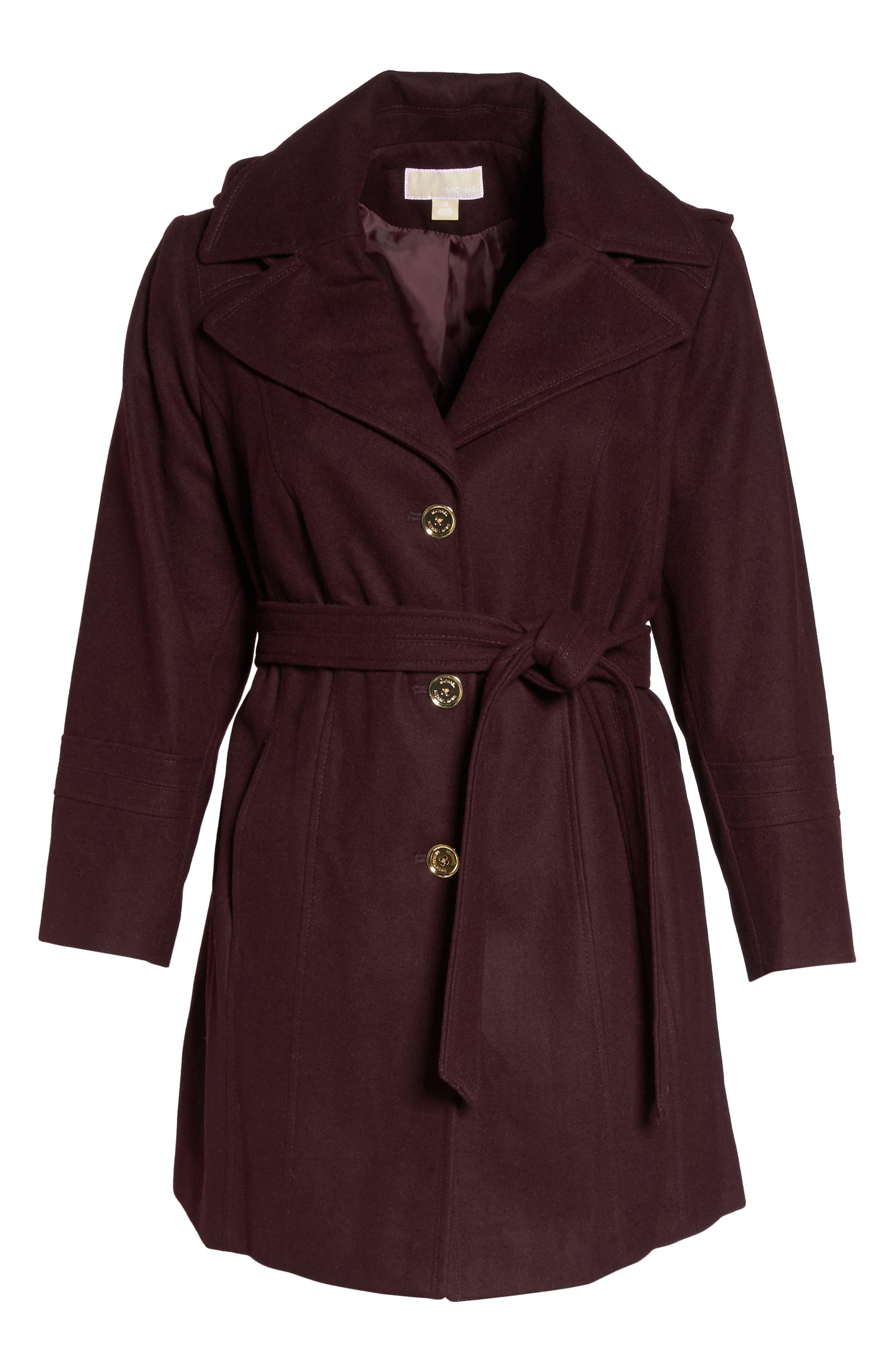 MICHAEL Michael Kors Hooded Coat (Plus Size)