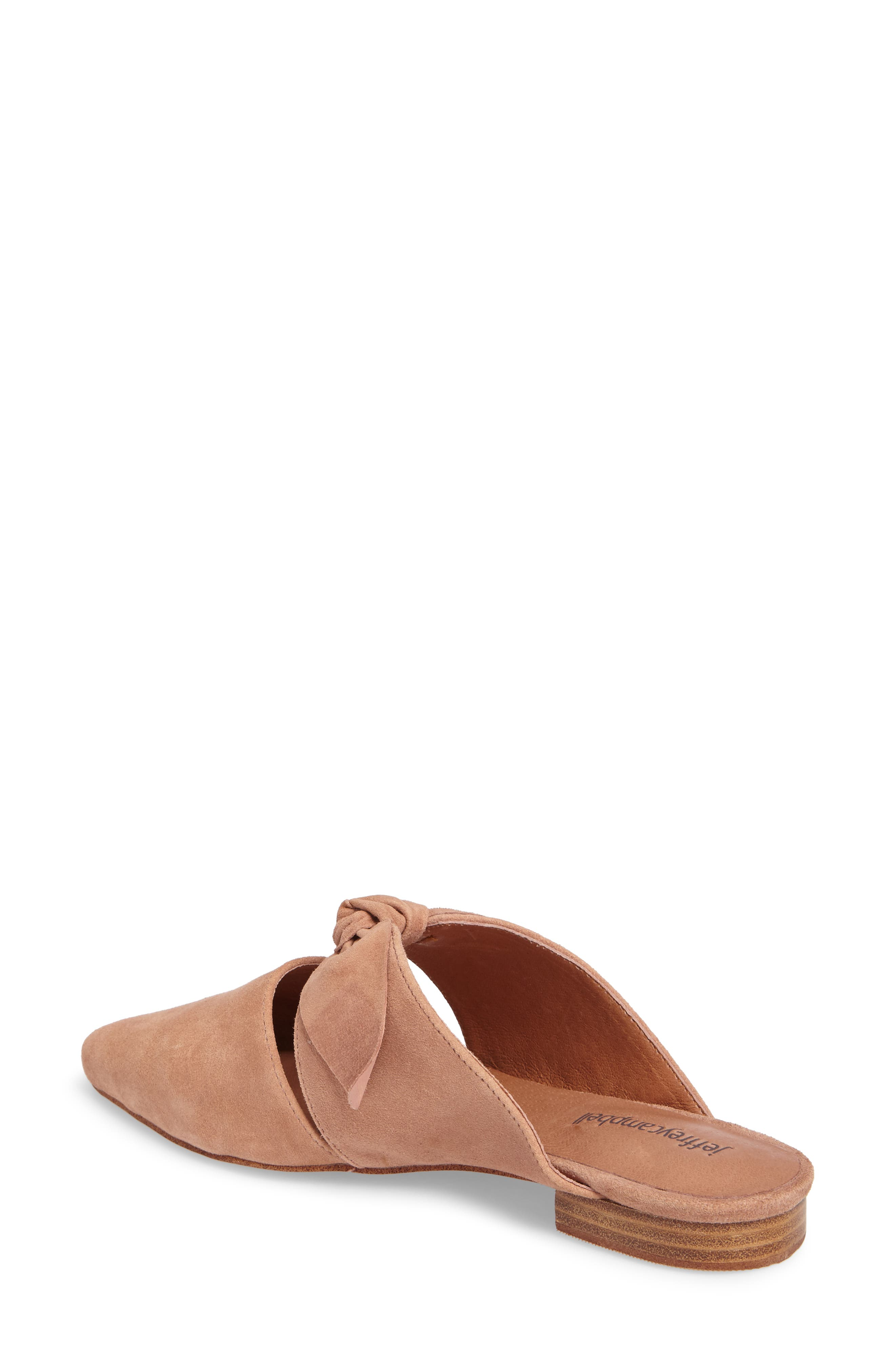 Charlin Bow Mule,                             Alternate thumbnail 2, color,                             Blush Suede