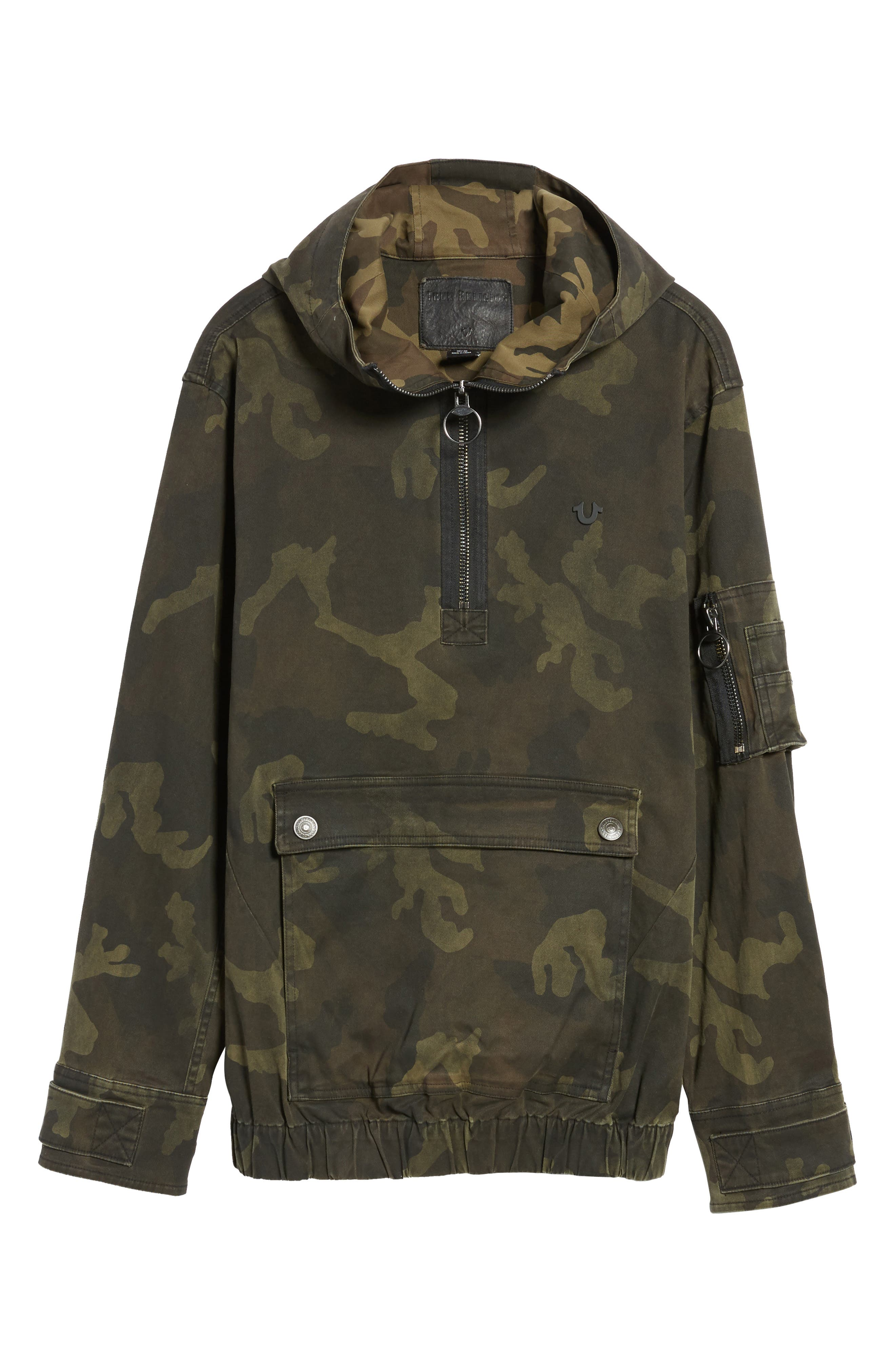 Camo Anorak,                             Alternate thumbnail 6, color,                             Military Green Camo