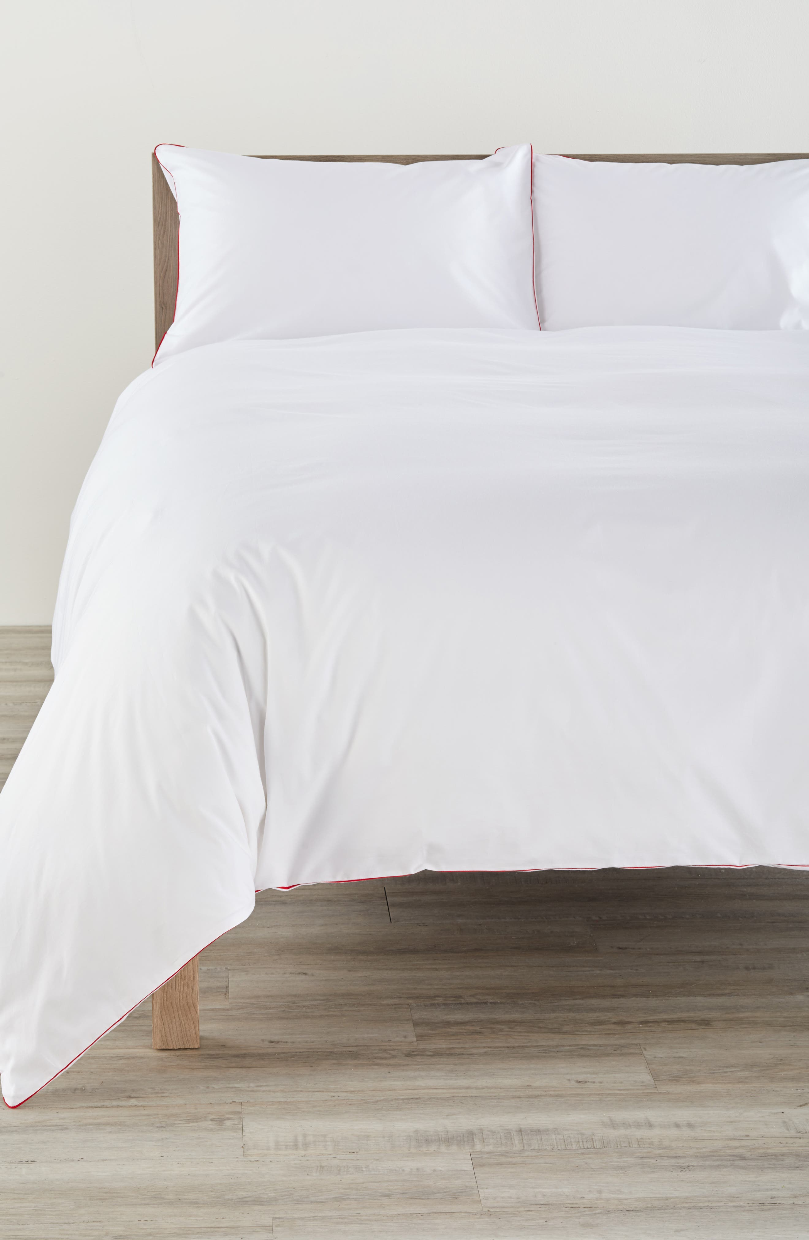 Series 1 500 Thread Count Duvet Cover,                         Main,                         color, Red