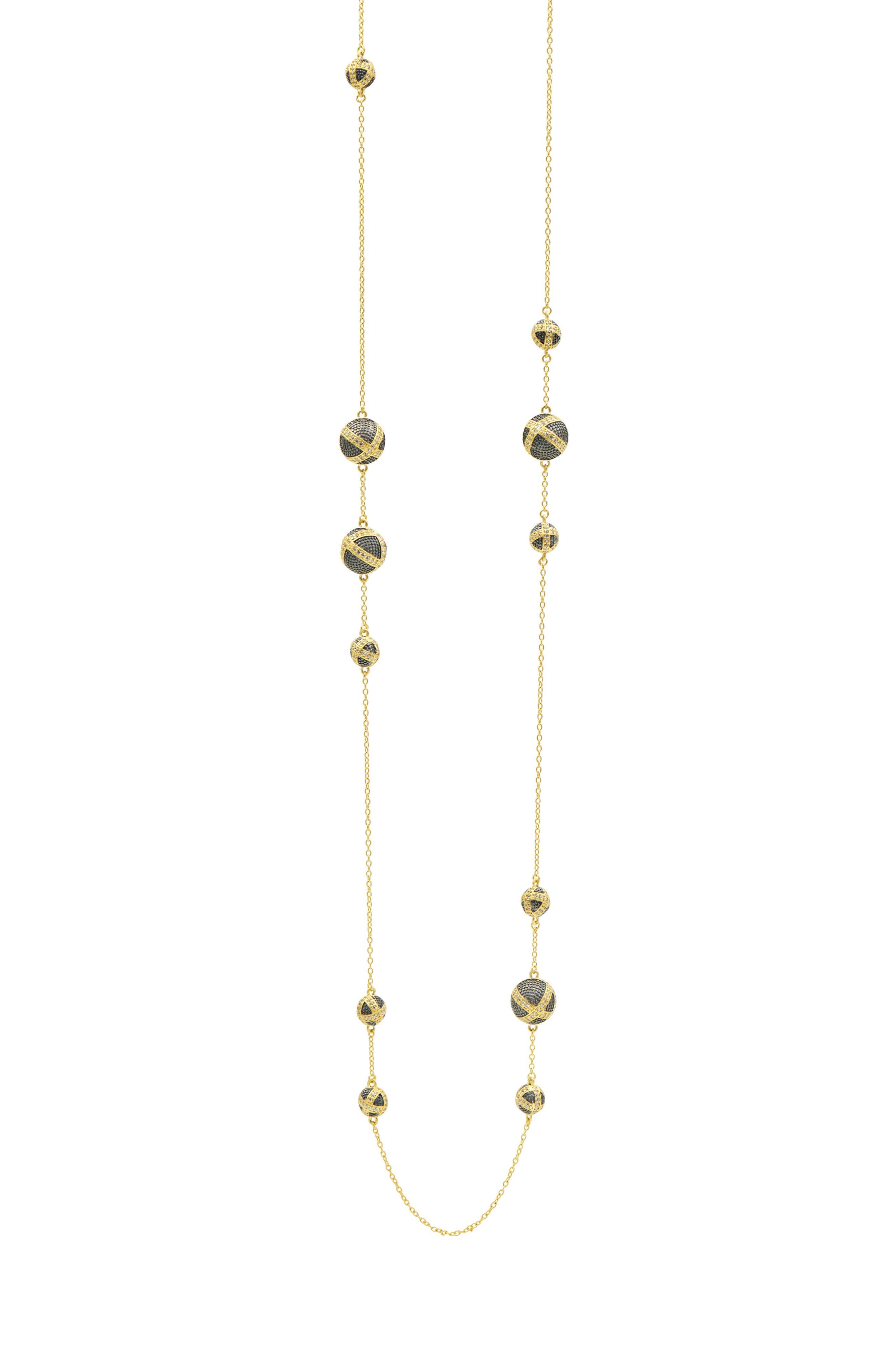 FREIDA ROTHMAN Textured Ornaments Station Necklace