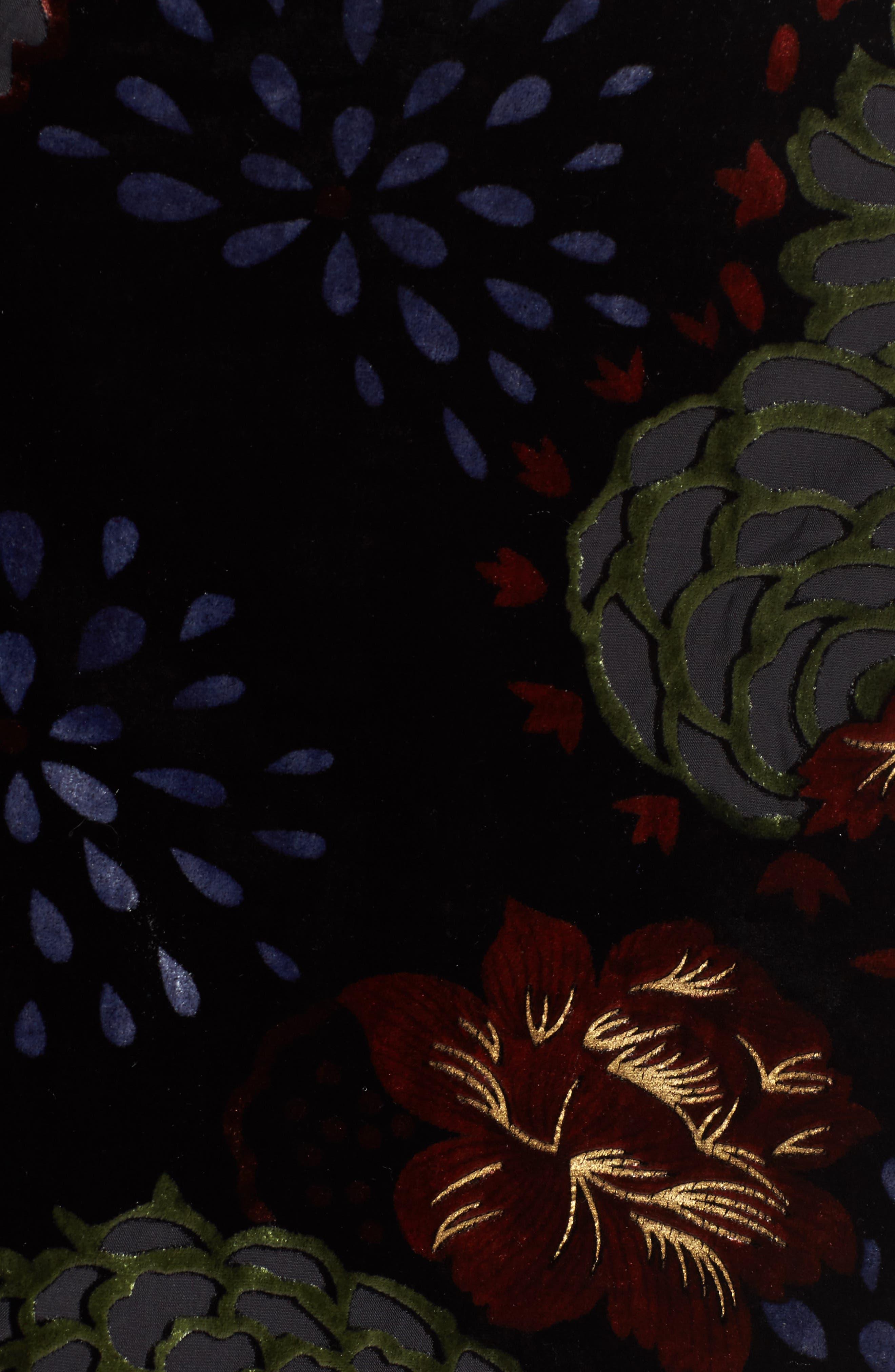 Romantic Burnout Miniskirt,                             Alternate thumbnail 5, color,                             Black Brick
