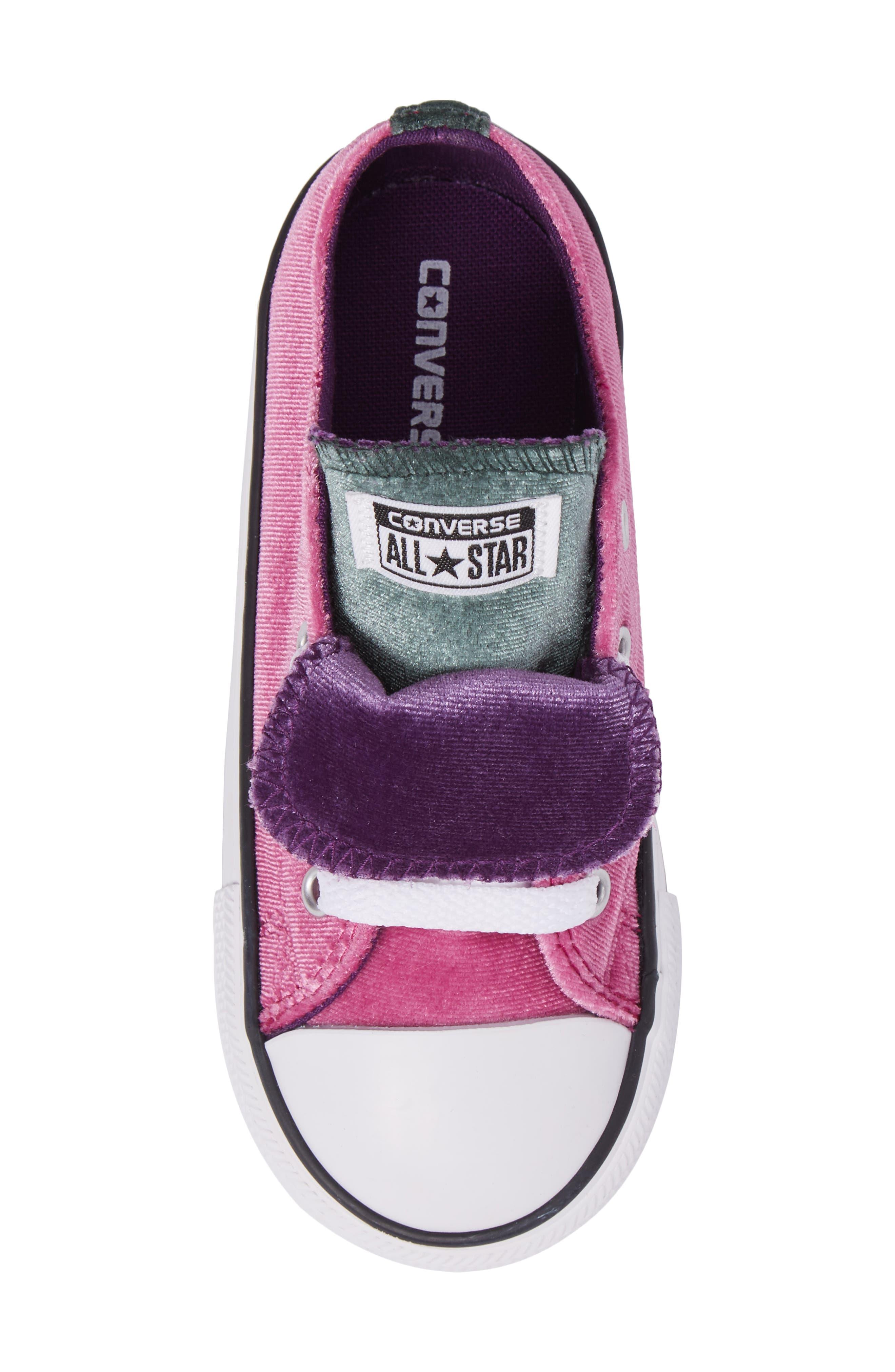 All Star<sup>®</sup> Velvet Double Tongue Sneaker,                             Alternate thumbnail 5, color,                             Pink Sapphire Velvet