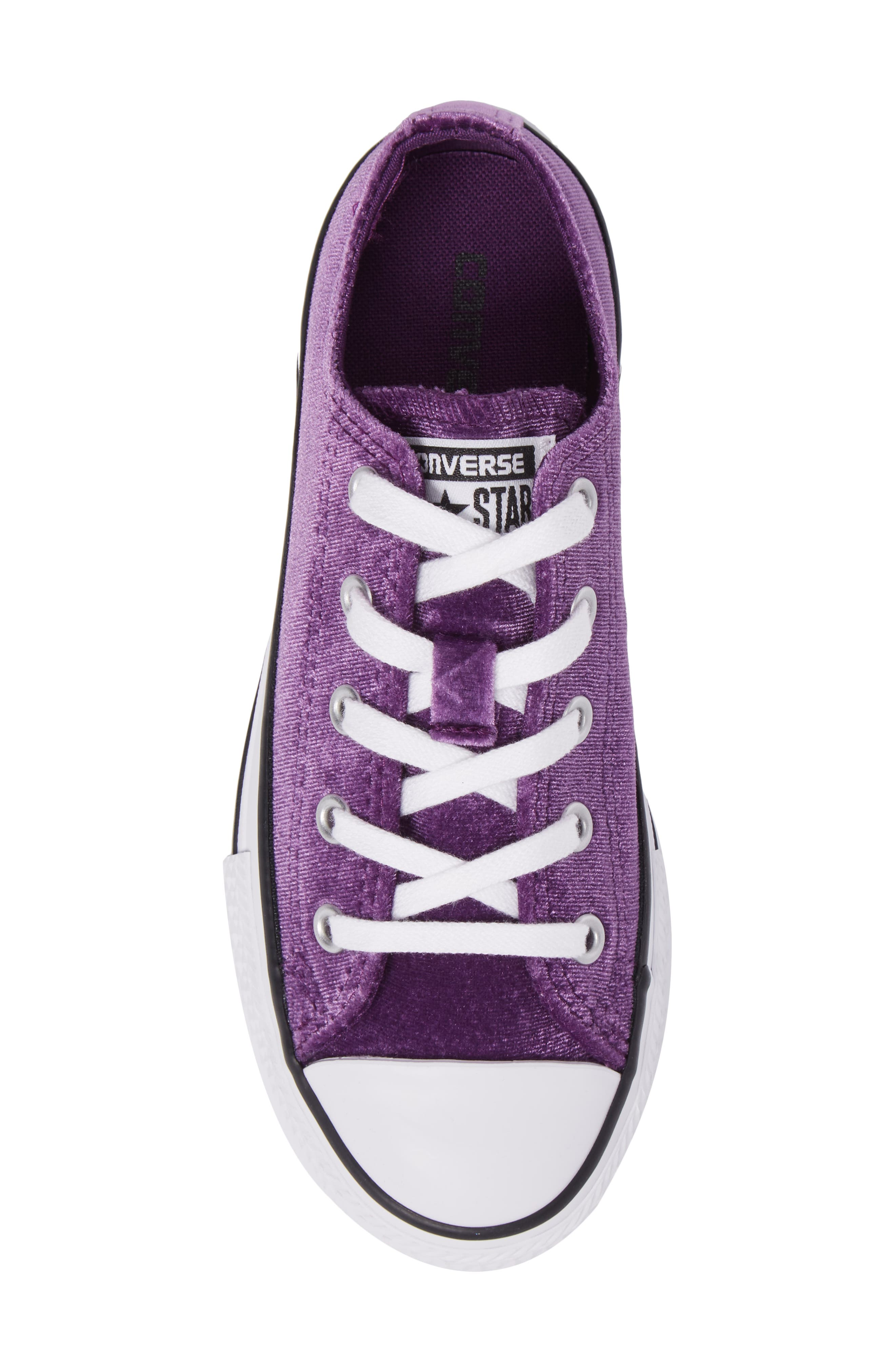 Chuck Taylor<sup>®</sup> All Star<sup>®</sup> Velvet OX Low Top Sneaker,                             Alternate thumbnail 5, color,                             Night Purple Velvet