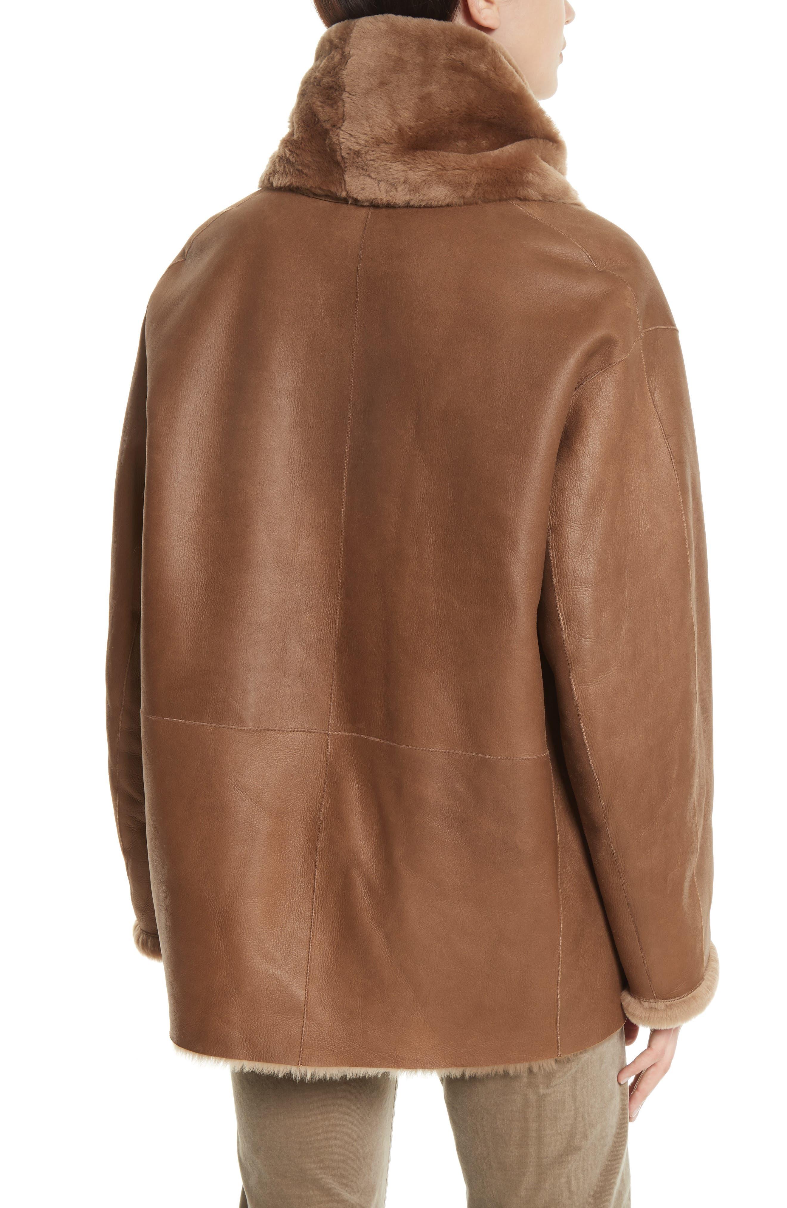 Alternate Image 3  - Vince Shawl Collar Genuine Shearling Reversible Coat