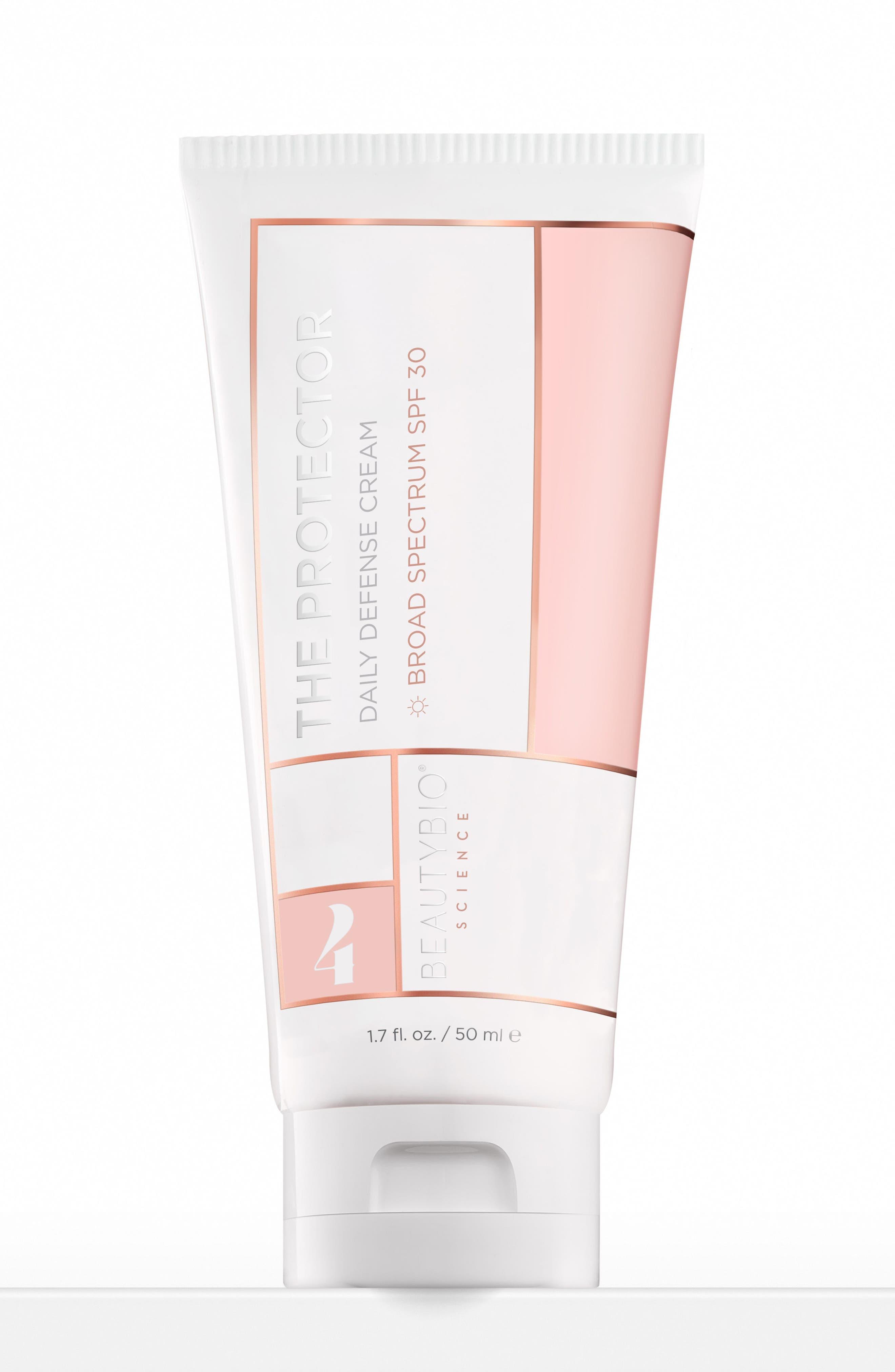 The Protector Daily Defense Cream SPF 30,                         Main,                         color, No Color