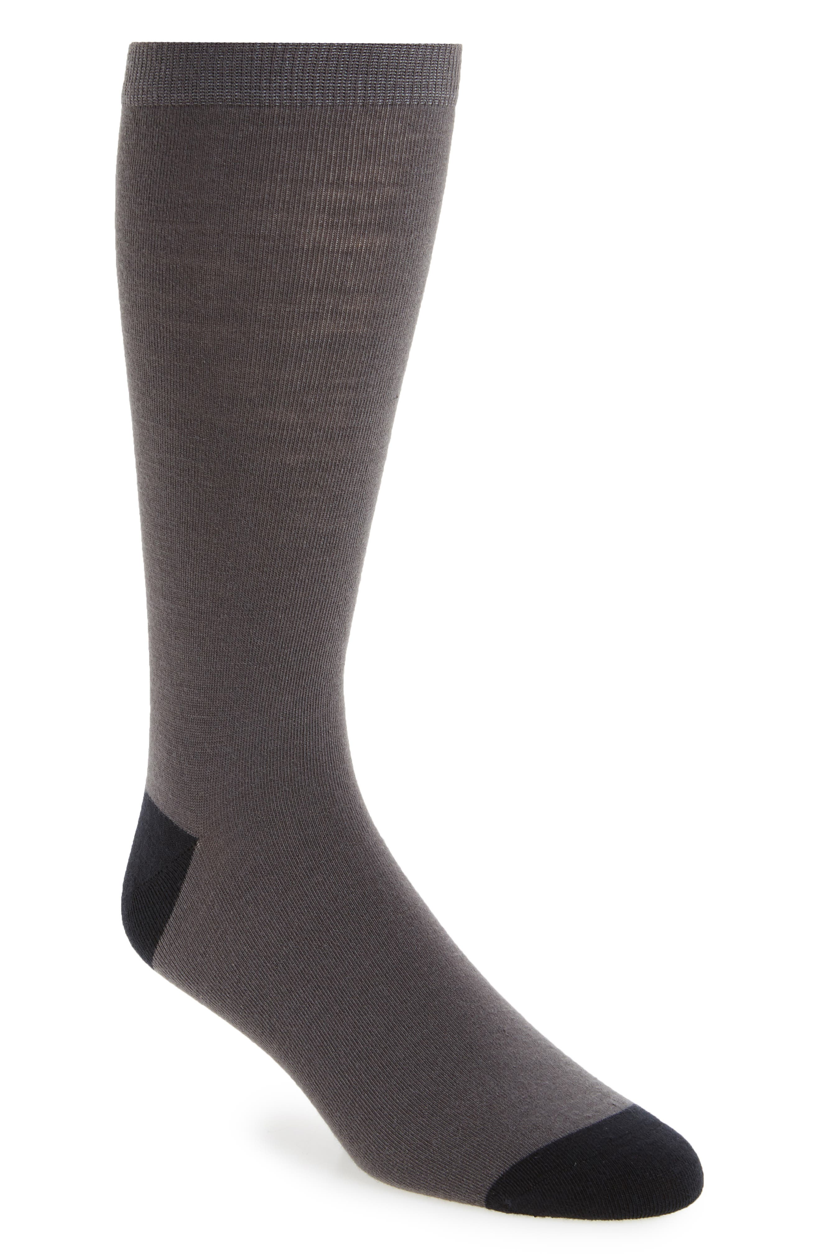 Colorblock Socks,                         Main,                         color, Charcoal