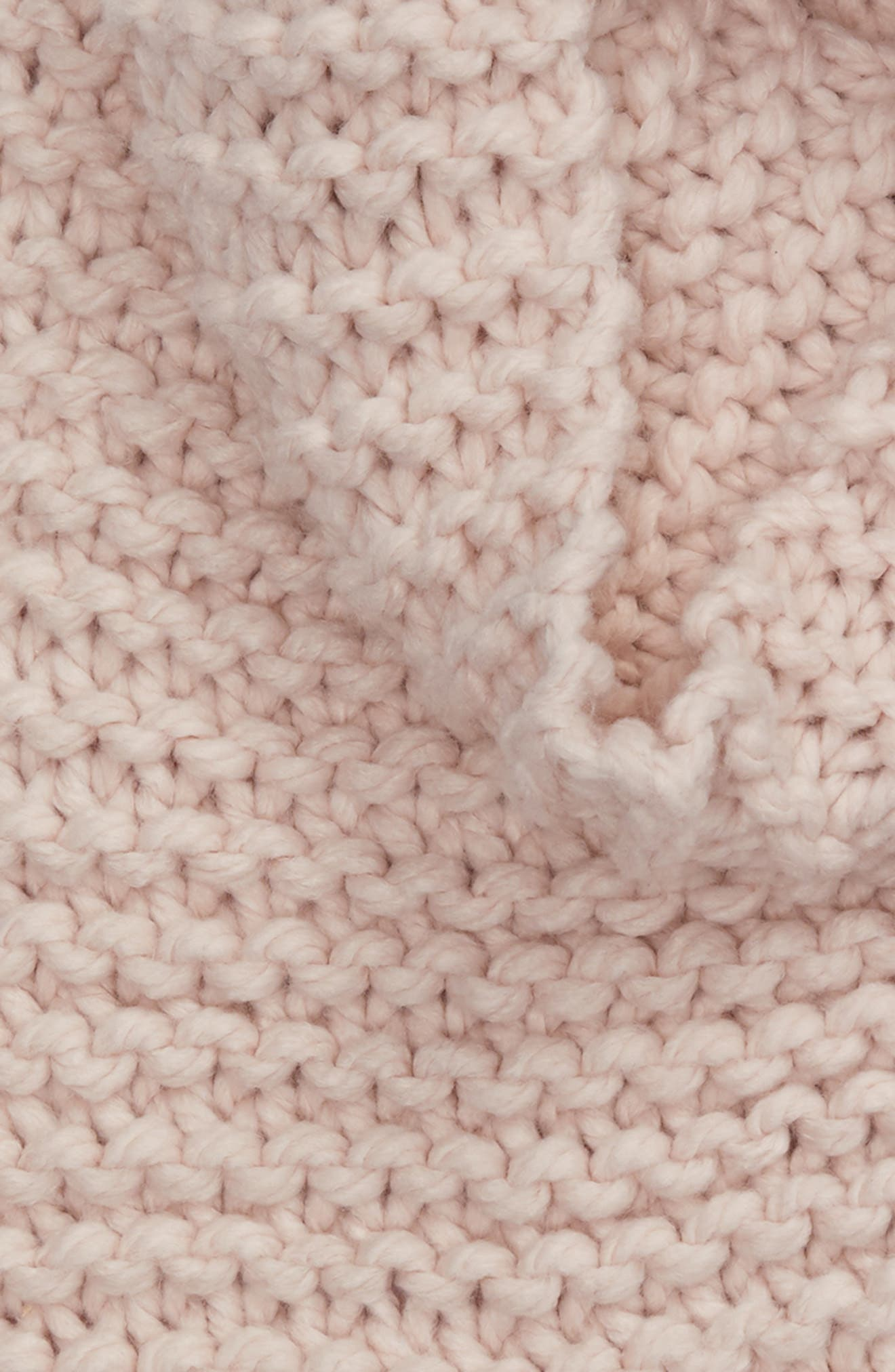 Chunky Knit Oversize Scarf,                             Alternate thumbnail 3, color,                             Blush