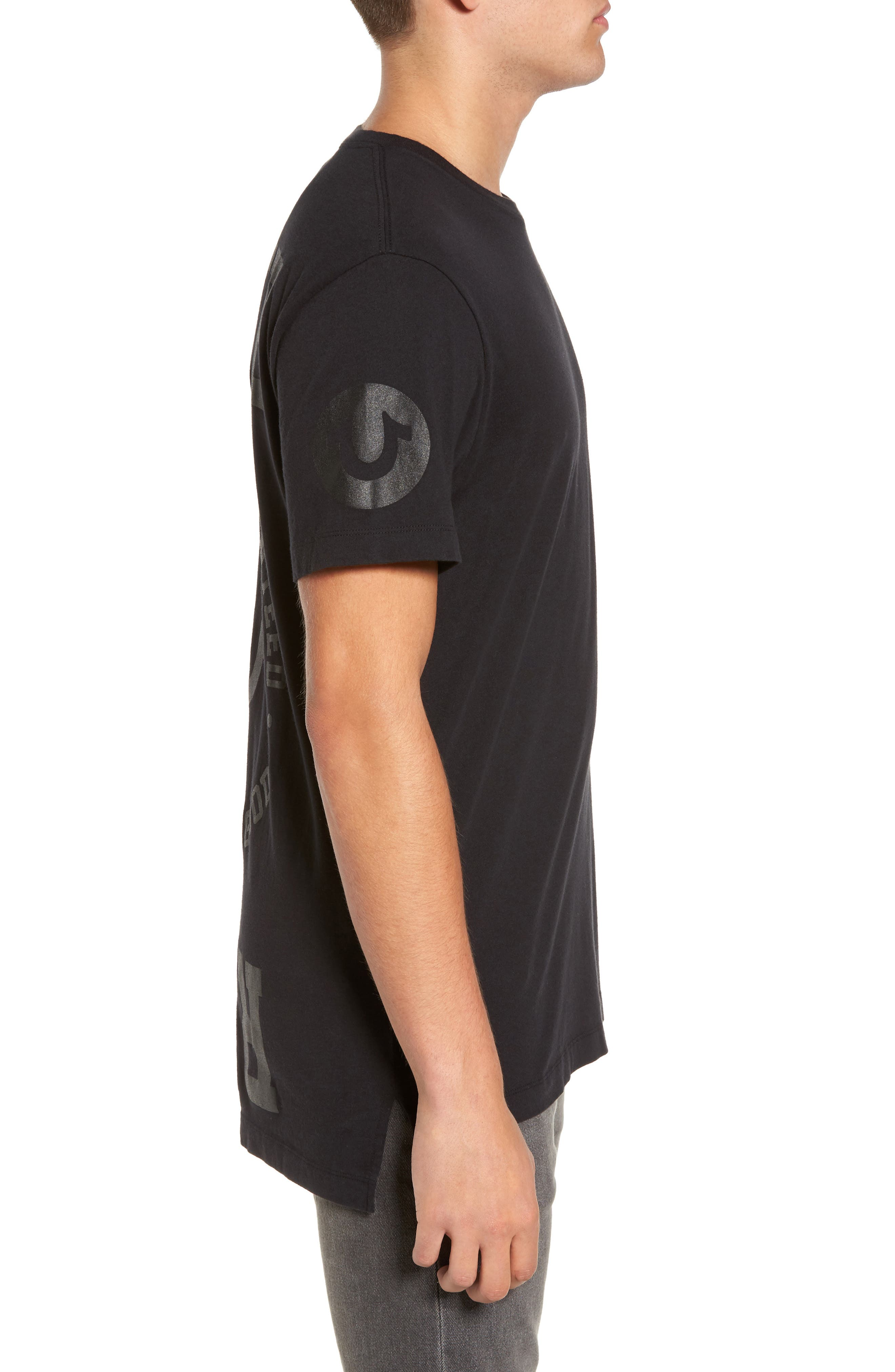 Graphic T-Shirt,                             Alternate thumbnail 3, color,                             Black
