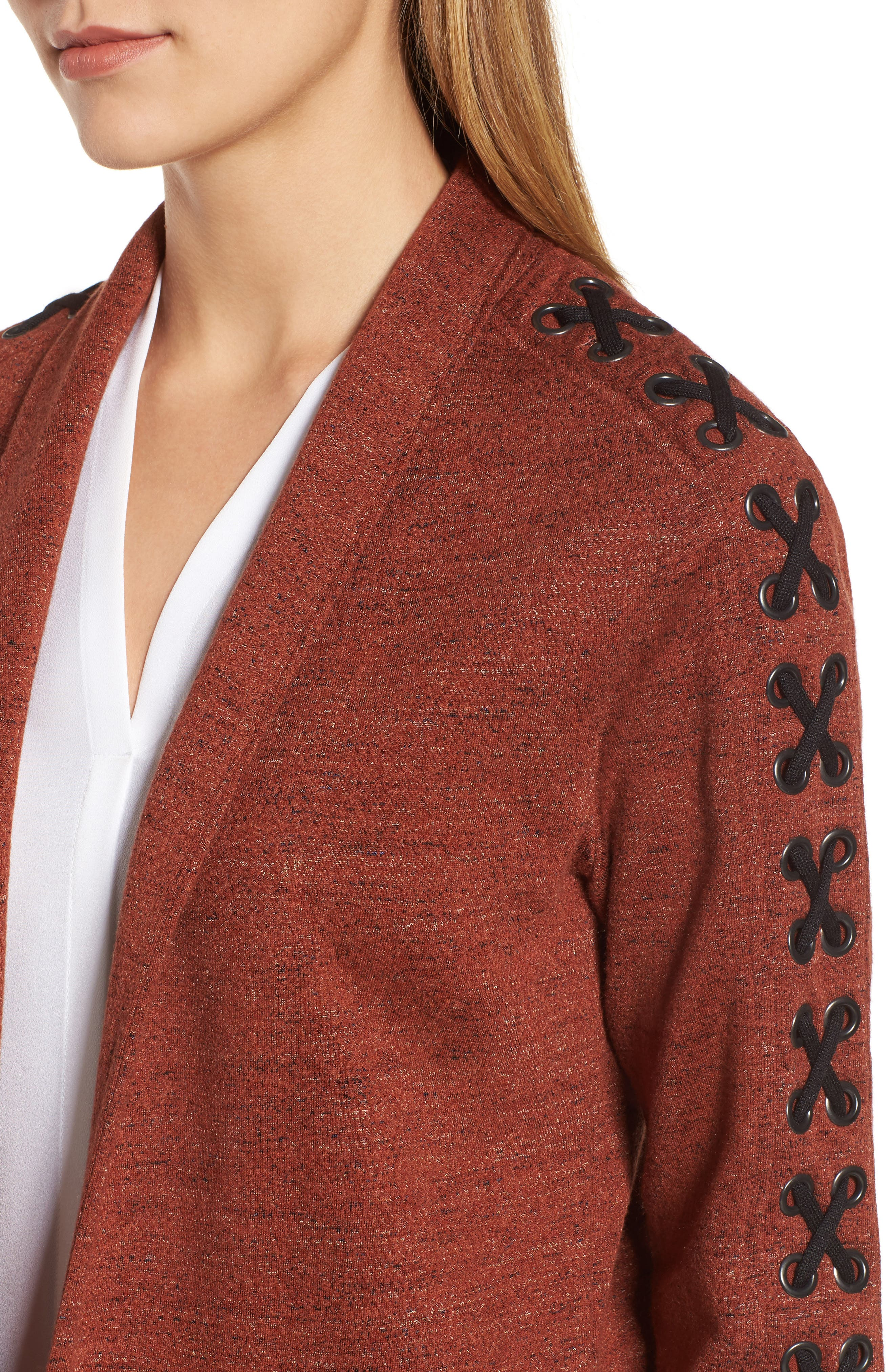 Alternate Image 4  - NIC+ZOE Crisscross Detail Knit Jacket (Regular & Petite)