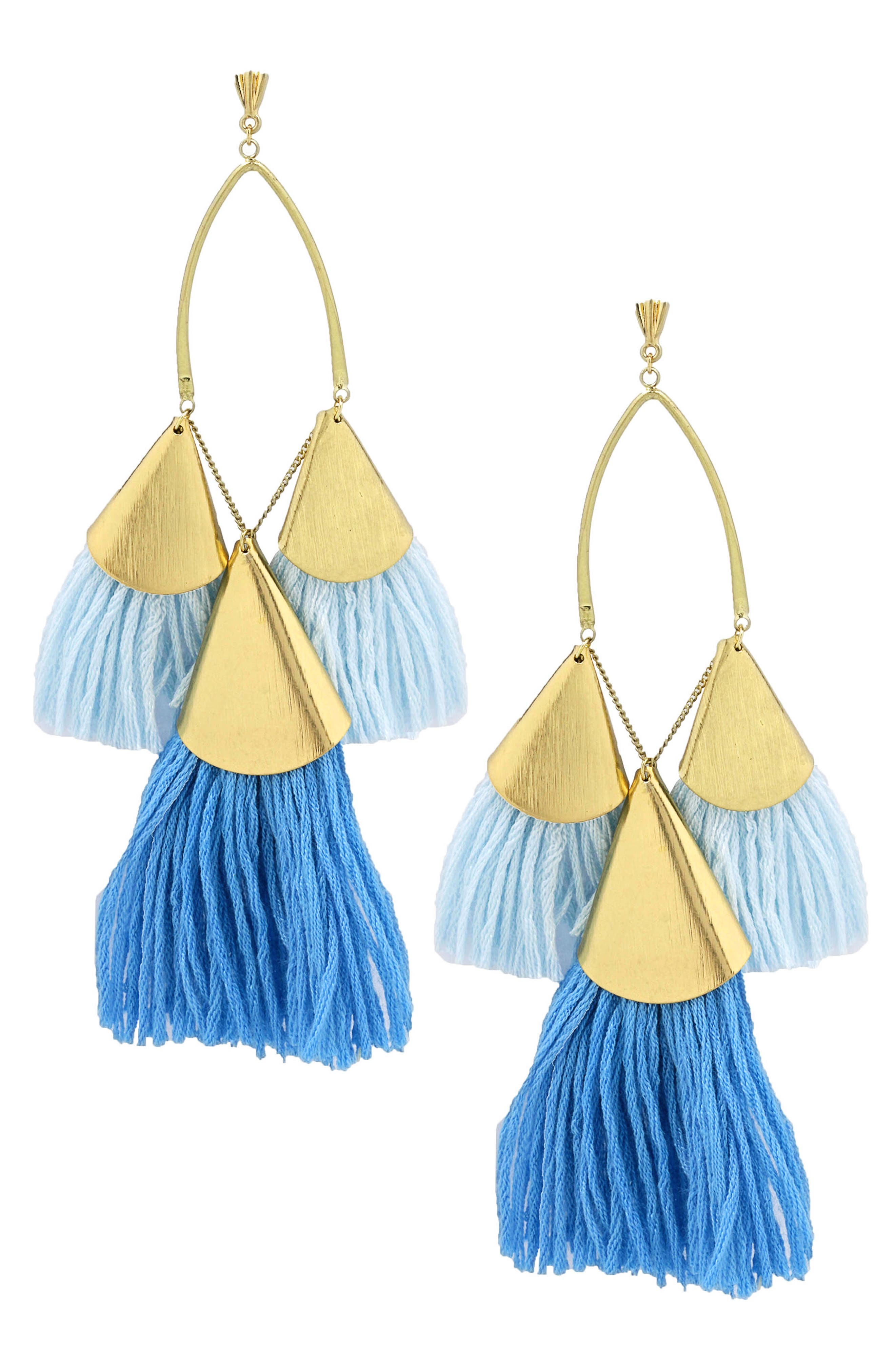 Alternate Image 1 Selected - Ettika Tassel Statement Earrings