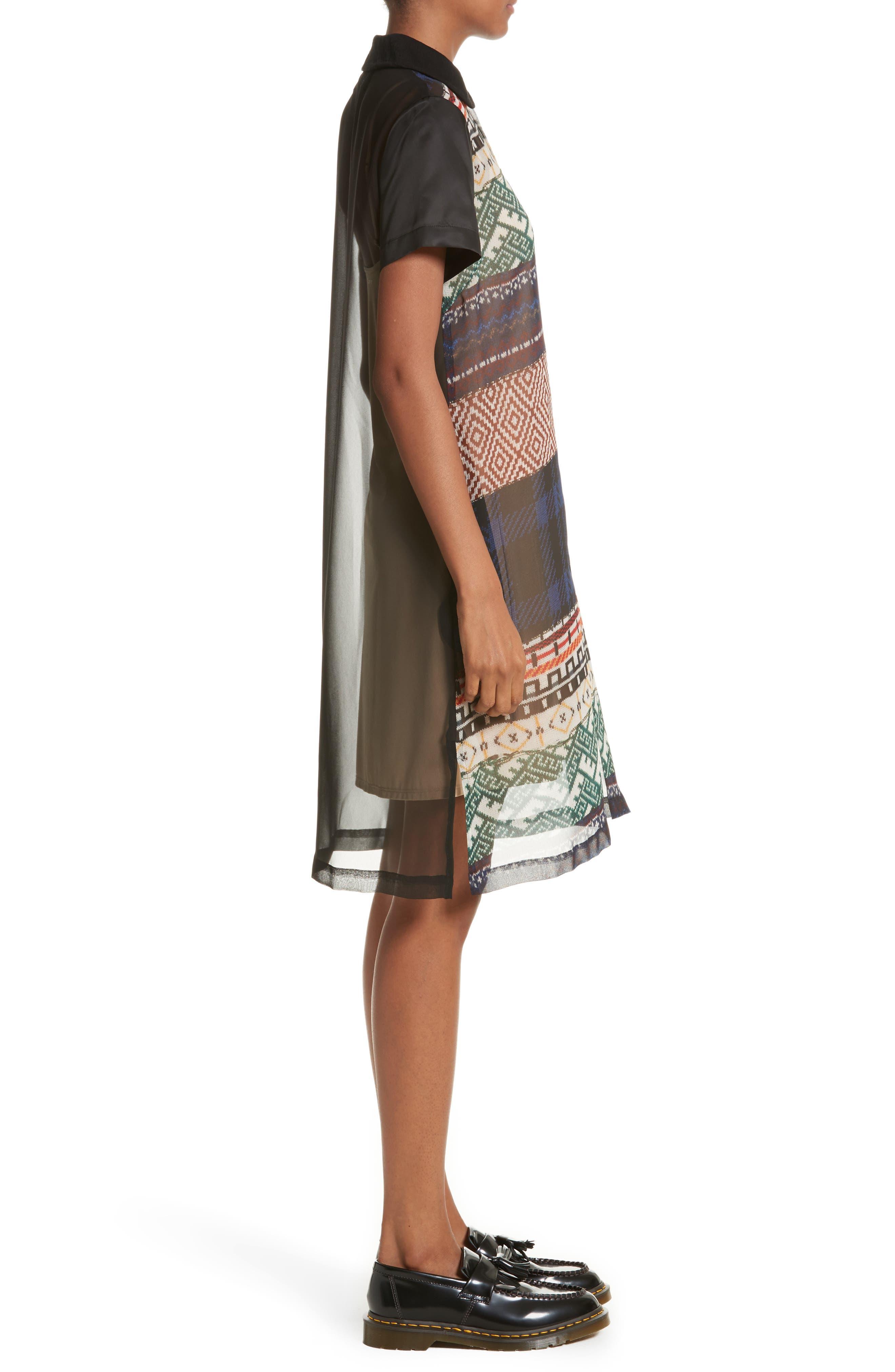 Alternate Image 3  - Tricot Comme des Garçons Mixed Print Short Sleeve Dress