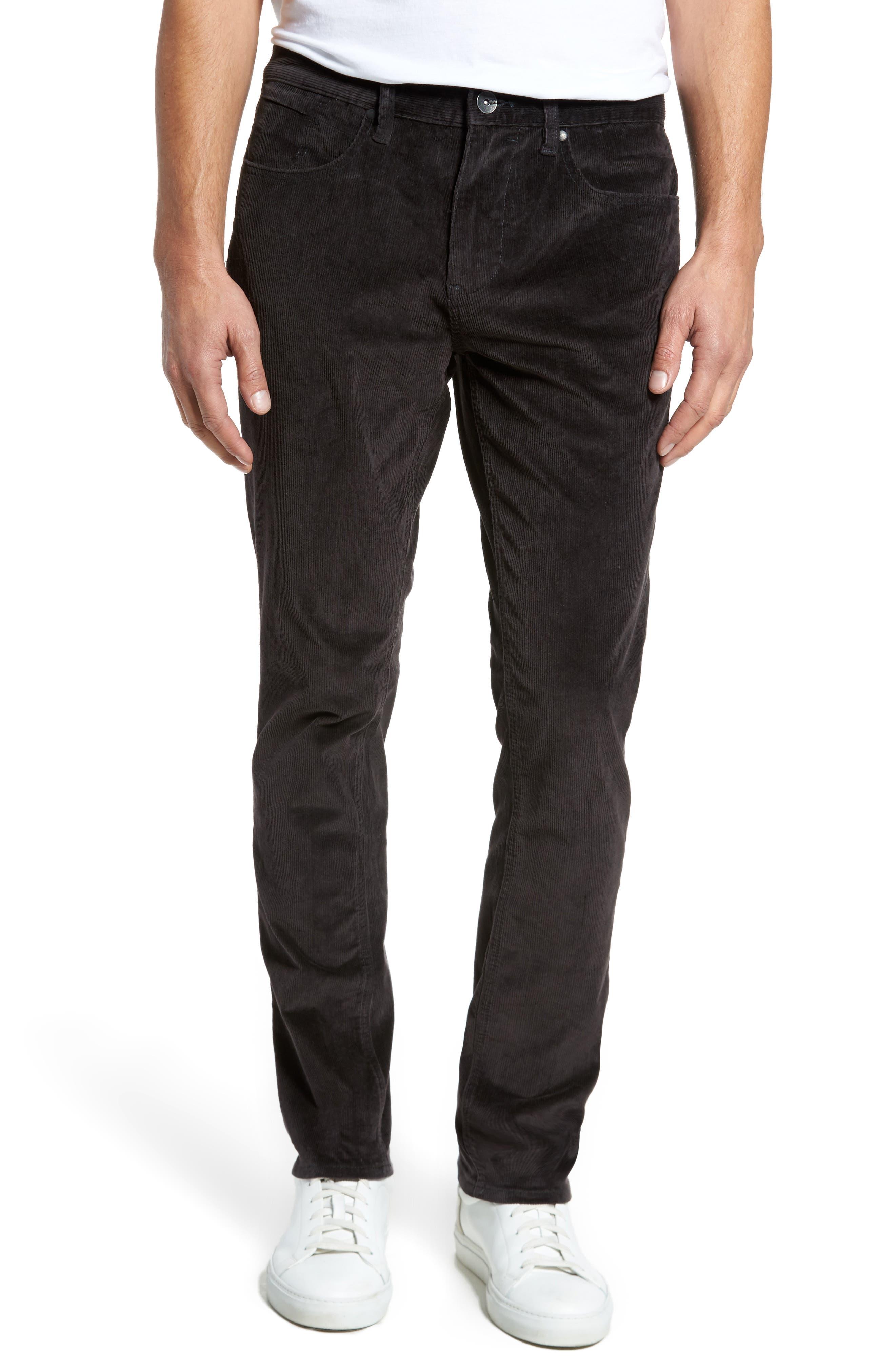 Outsider Corduroy Pants,                         Main,                         color, Charcoal