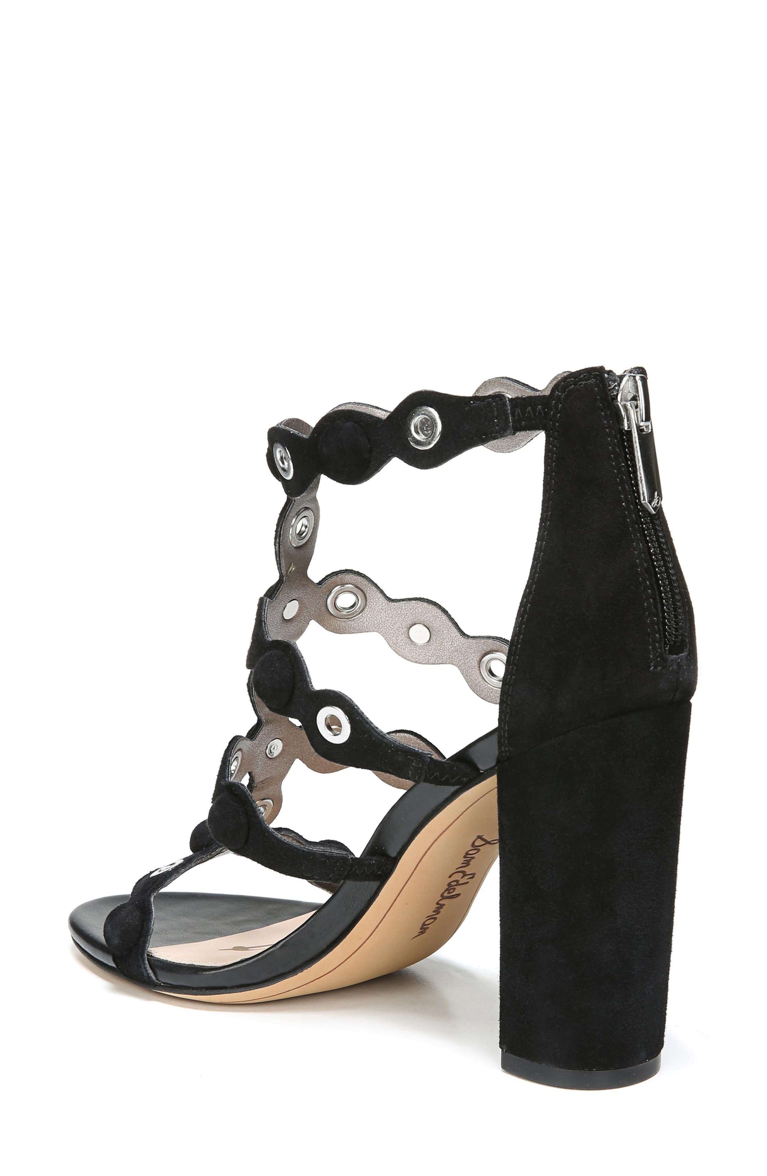 Yuli Grommet Sandal,                             Alternate thumbnail 2, color,                             Black Leather