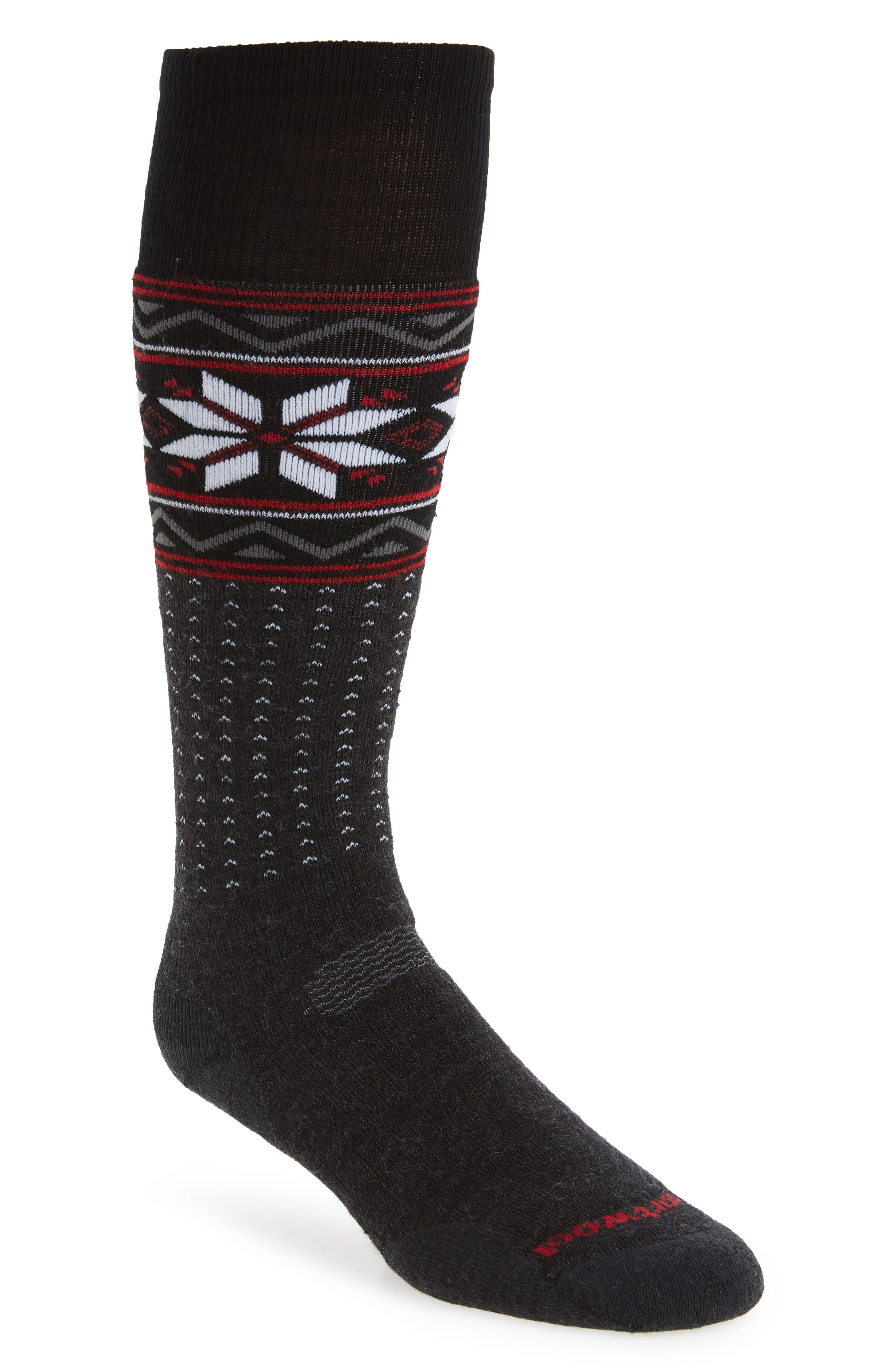 PhD Slopestyle Socks,                             Main thumbnail 1, color,                             Charcoal