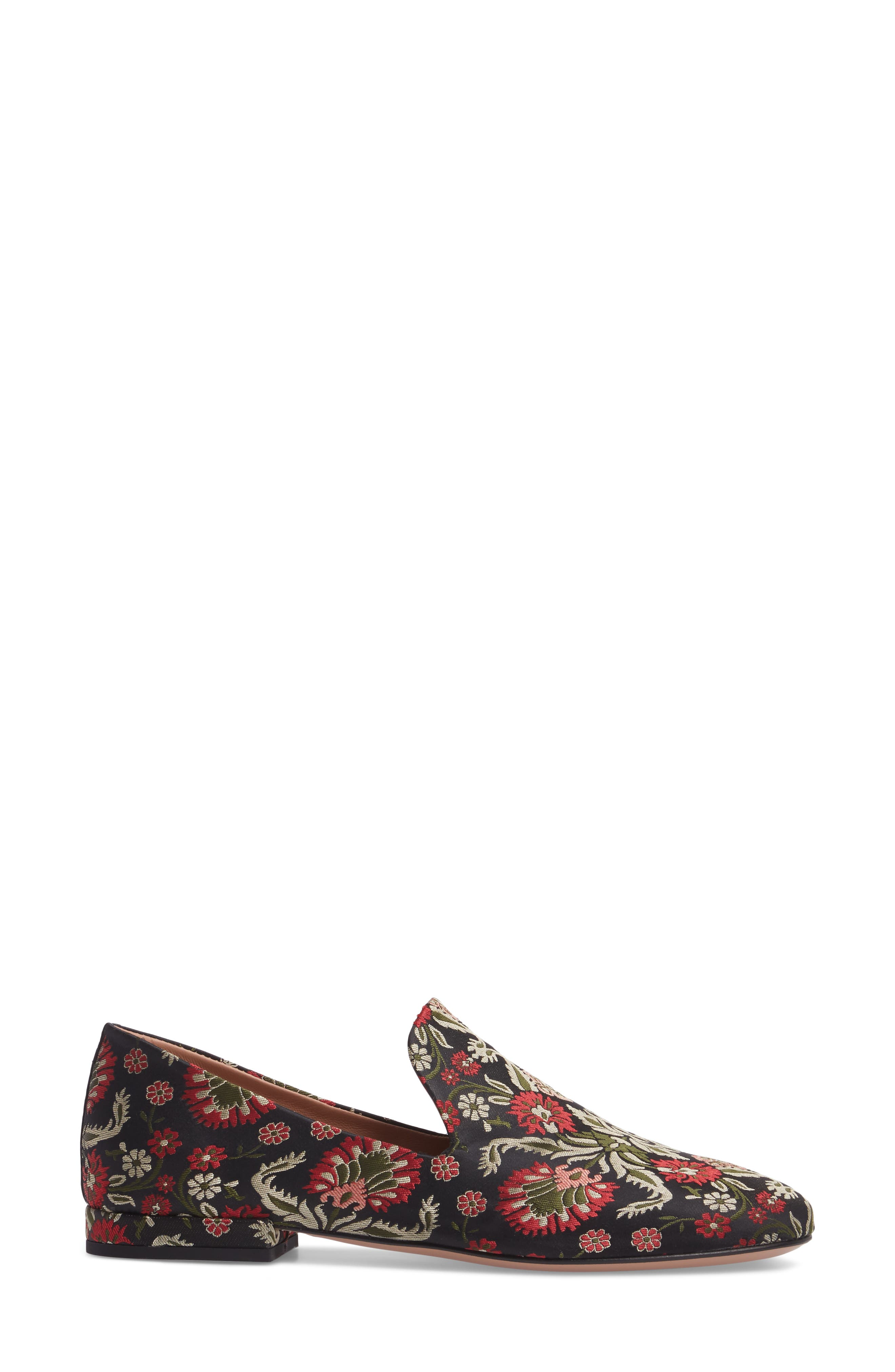 Gabriella Loafer,                             Alternate thumbnail 3, color,                             Red / Green Fabric