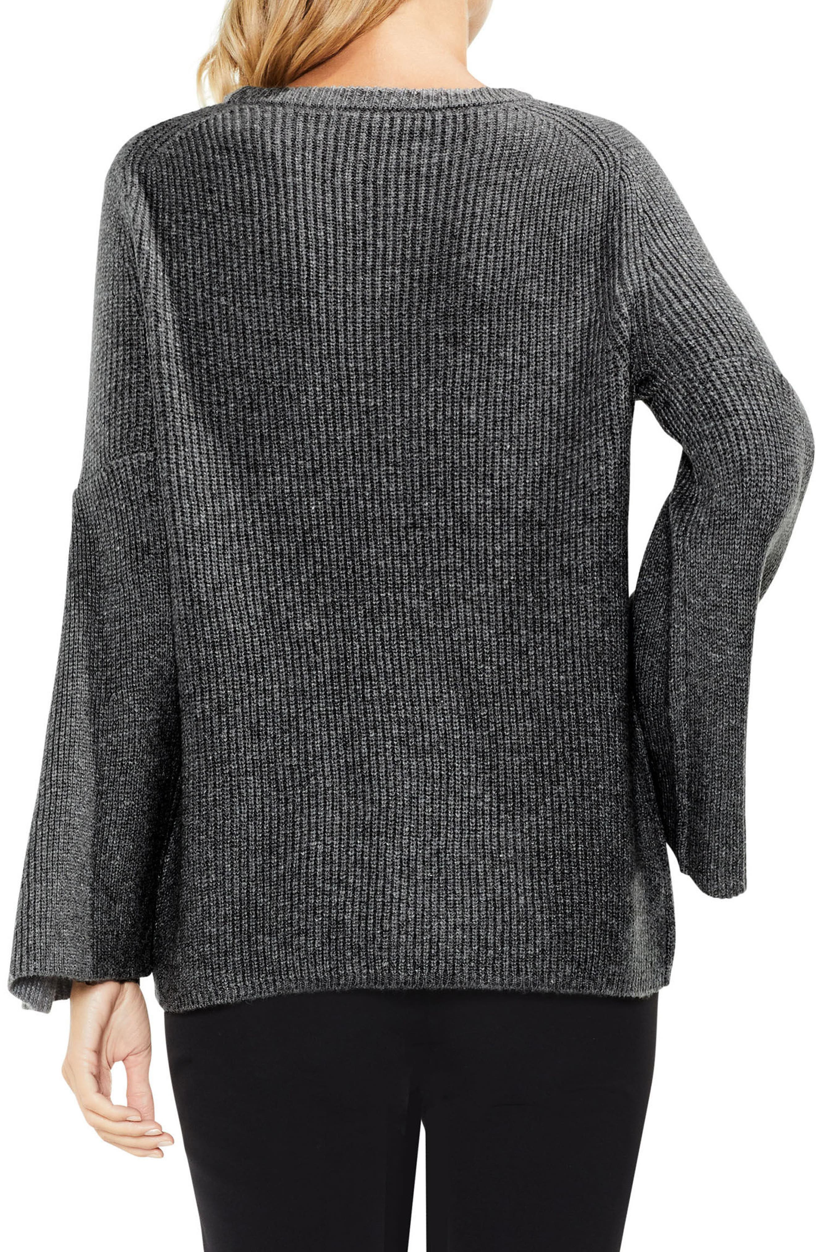 Alternate Image 2  - Vince Camuto All Over Rib Bell Sleeve Sweater (Regular & Petite)
