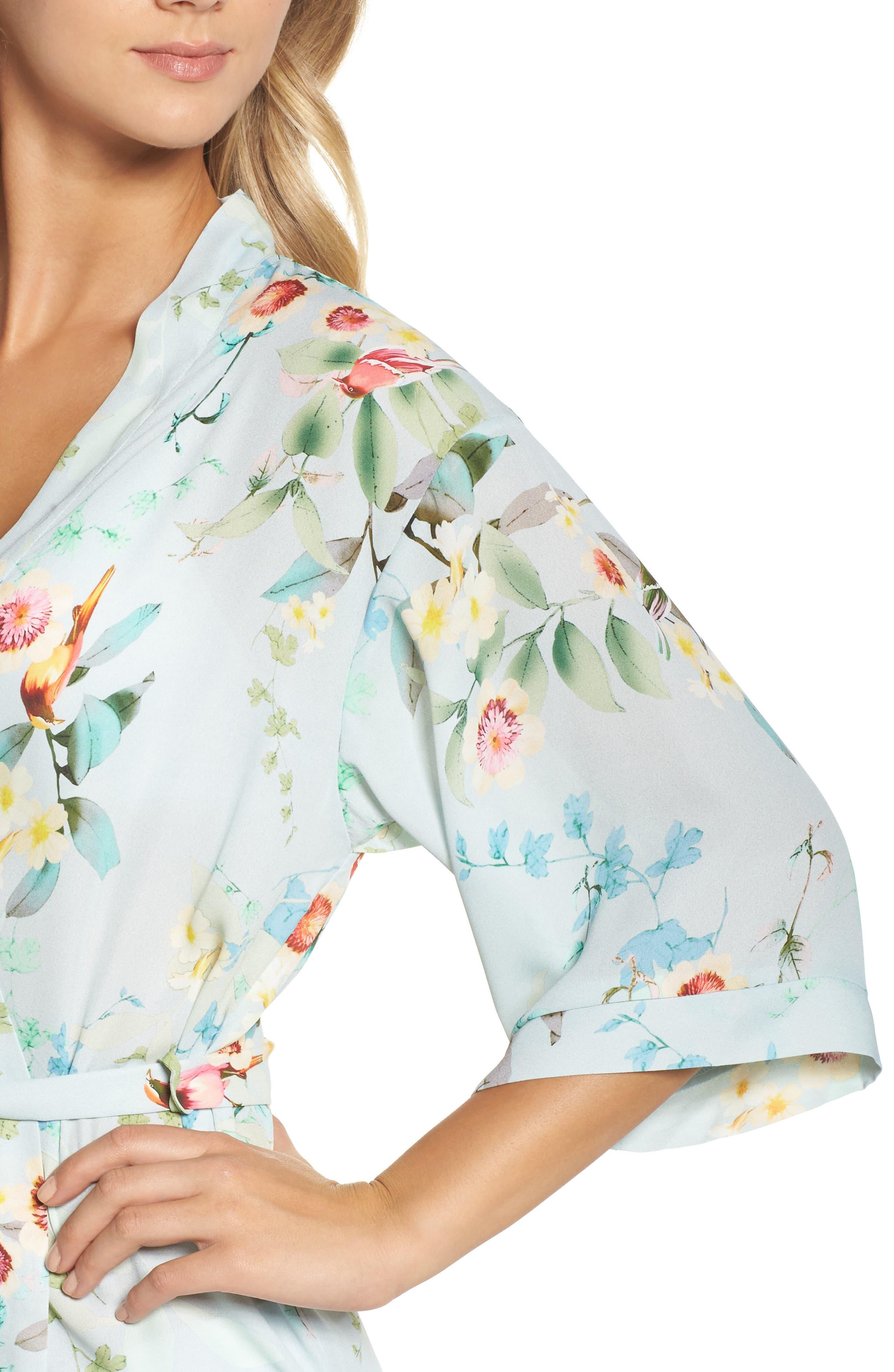 Alternate Image 5  - Flora Nikrooz Alison Floral Kimono Robe