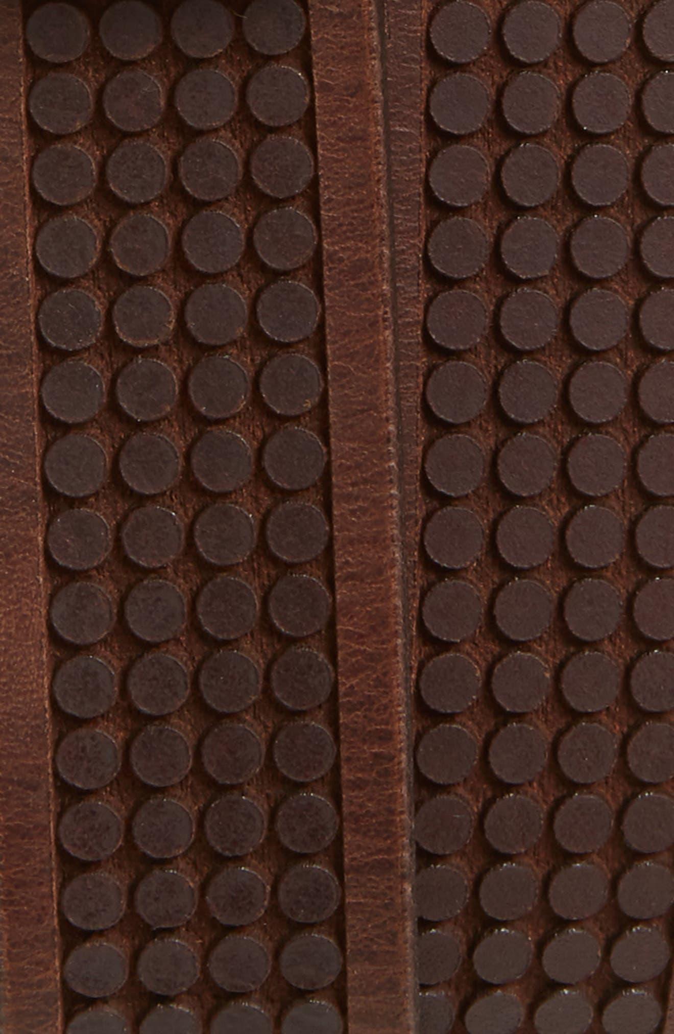 Embossed Leather Belt,                             Alternate thumbnail 2, color,                             Brown