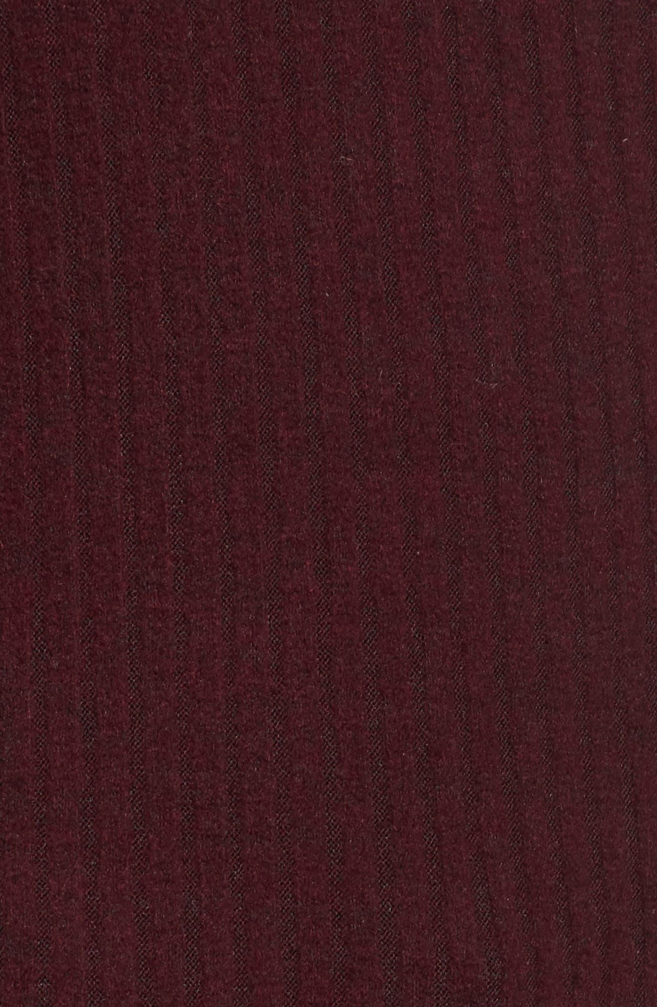 Marie Ruffle Sleeve Top,                             Alternate thumbnail 5, color,                             Burgundy