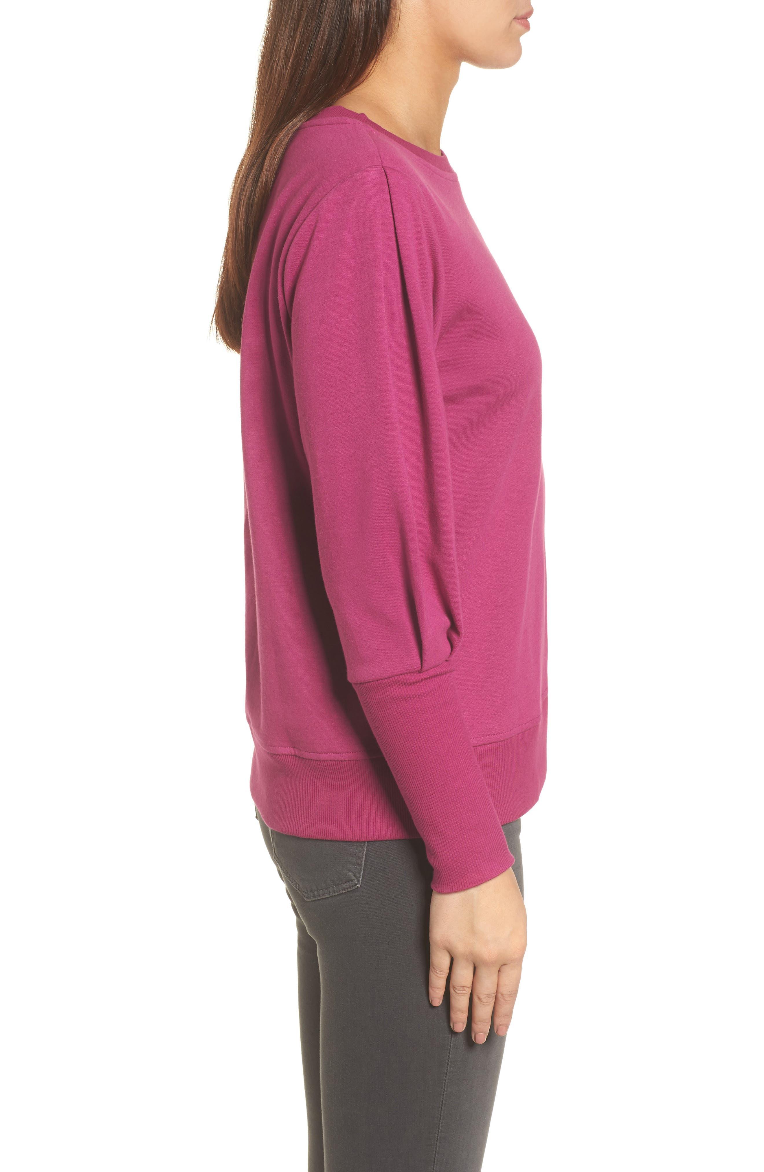 Alternate Image 3  - Halogen® Blouson Sleeve Sweatshirt