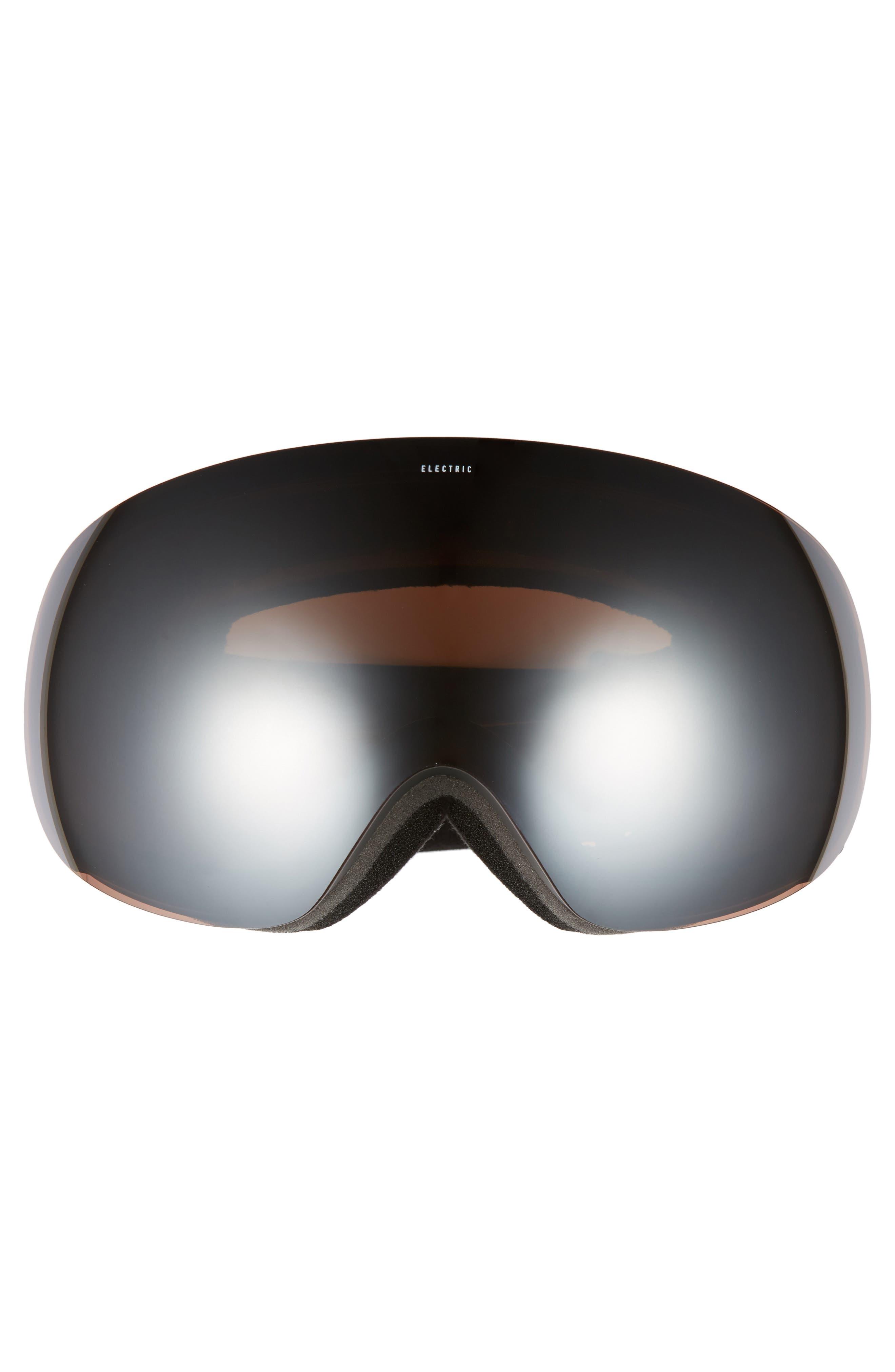 EG3 Snow Goggles,                             Alternate thumbnail 3, color,                             Matte Black/ Silver Chrome