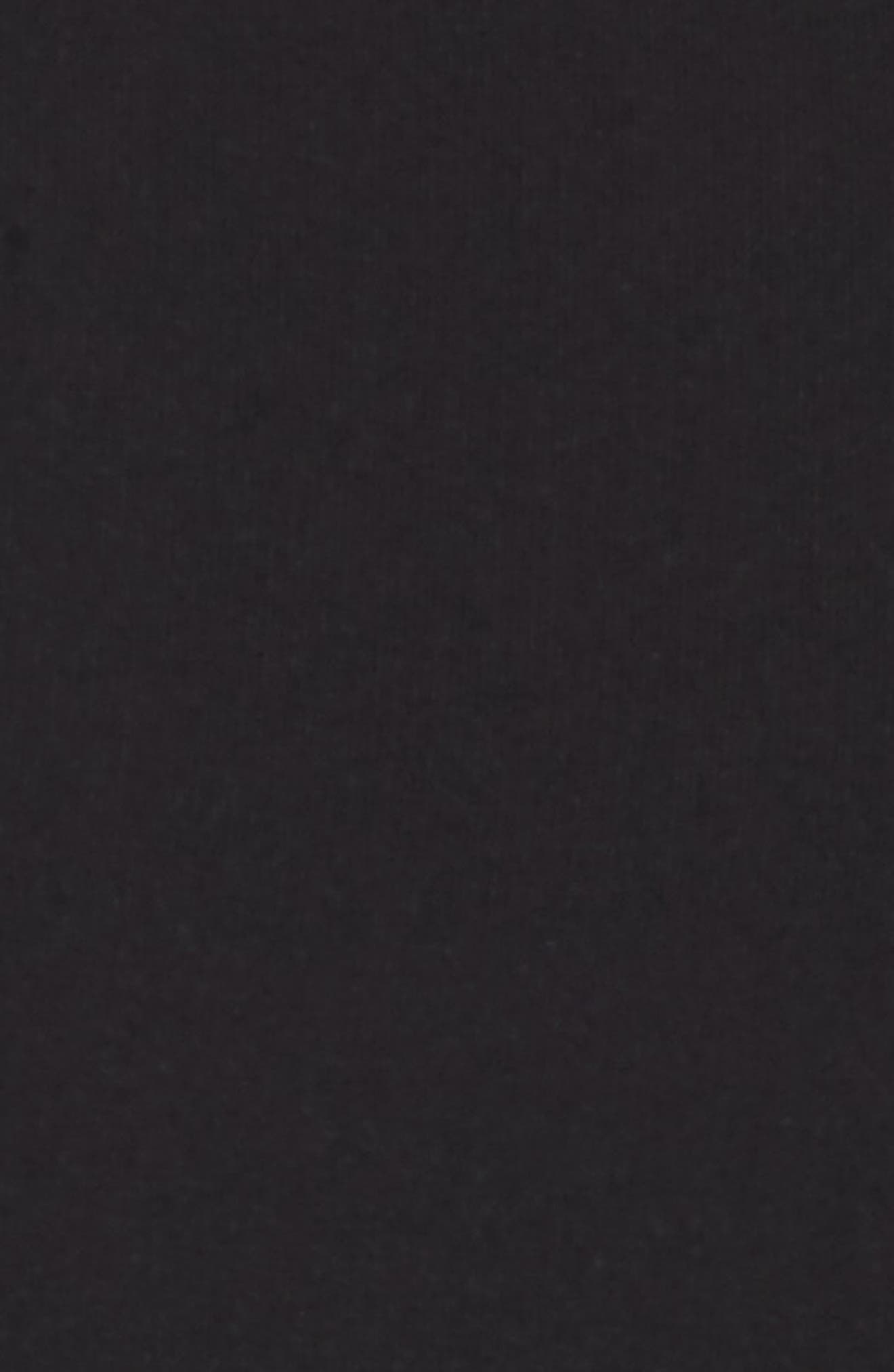 Maxwell Asymmetric Faux Wrap Dress,                             Alternate thumbnail 5, color,                             Black