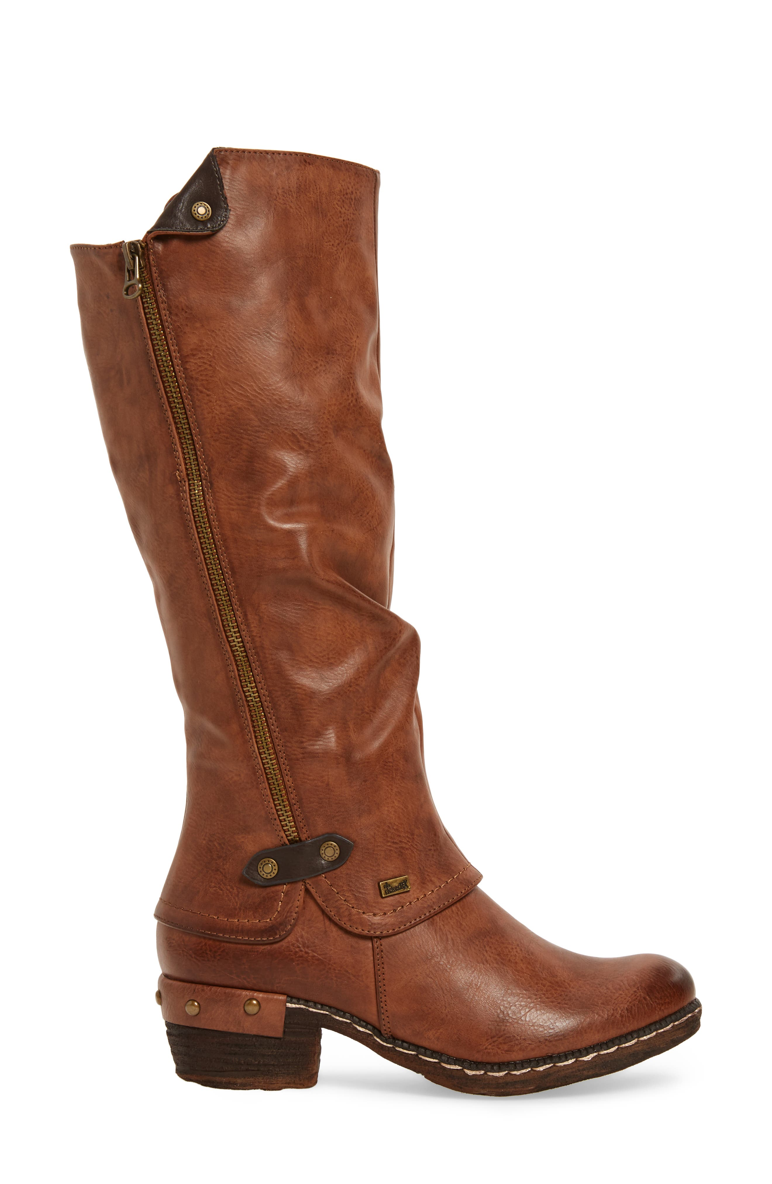 'Bernadette 55' Slightly Slouchy All Weather Boot,                             Alternate thumbnail 3, color,                             Kastanie Faux Leather